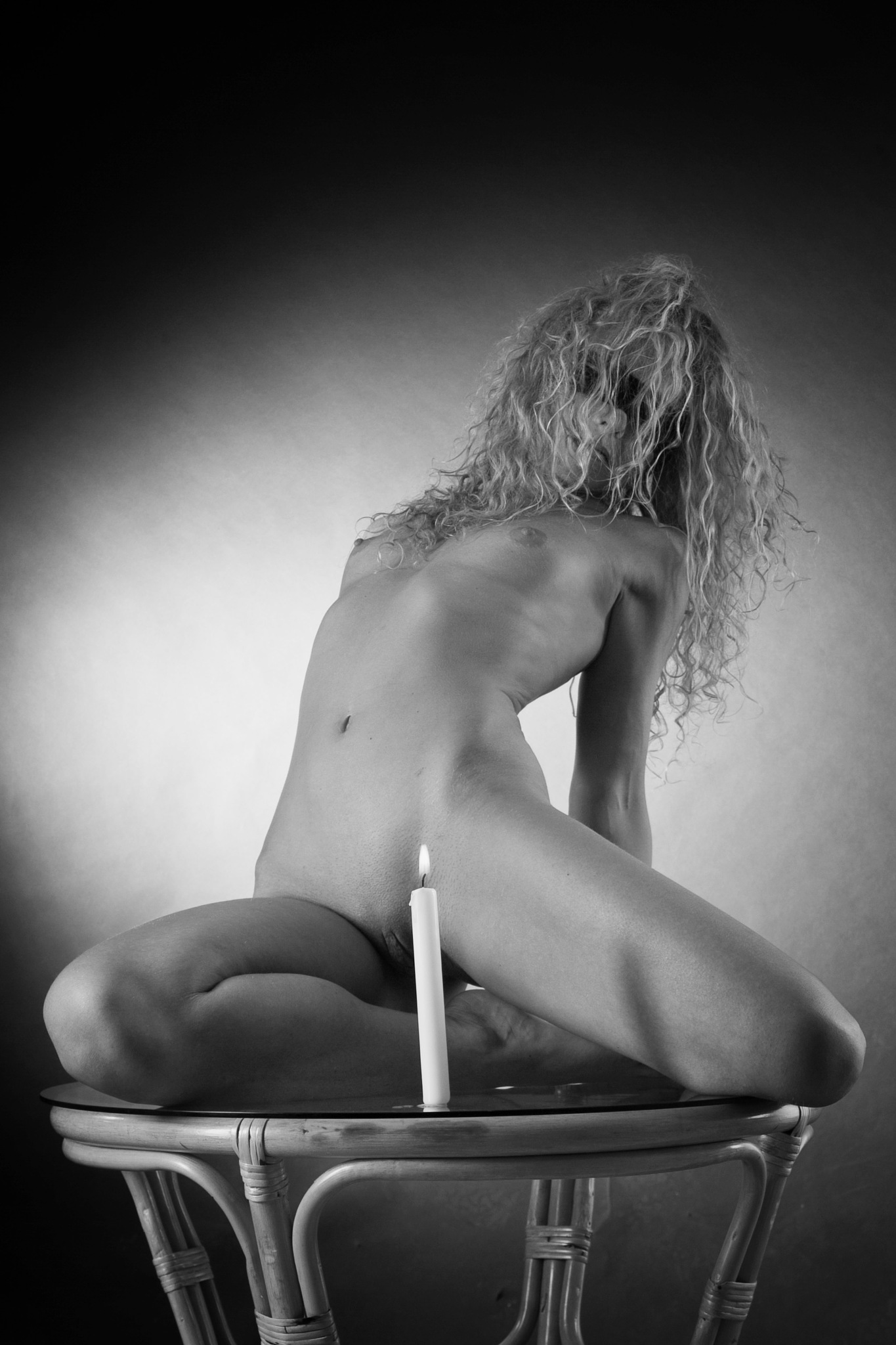 Photo in Nude #frau #nippel #nipples #busen #brust #brüste #kerze #tisch #heiss #nackt #nackte #nacktes #girl #woman #nude #nudes #naked #candle #burning #long hair #skinny #table #romance #monochrome