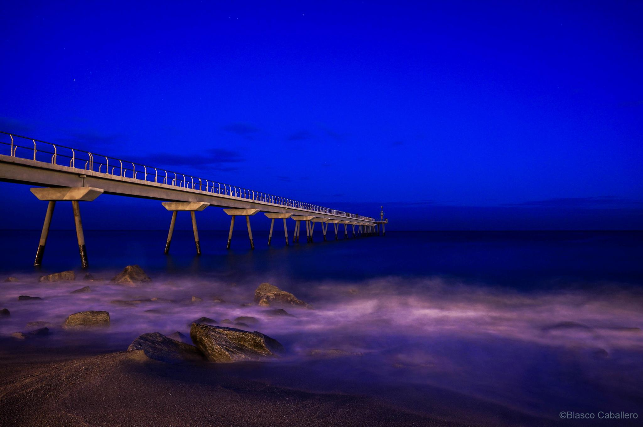 Blue Hour at Pont del Petroli by Blasco Caballero