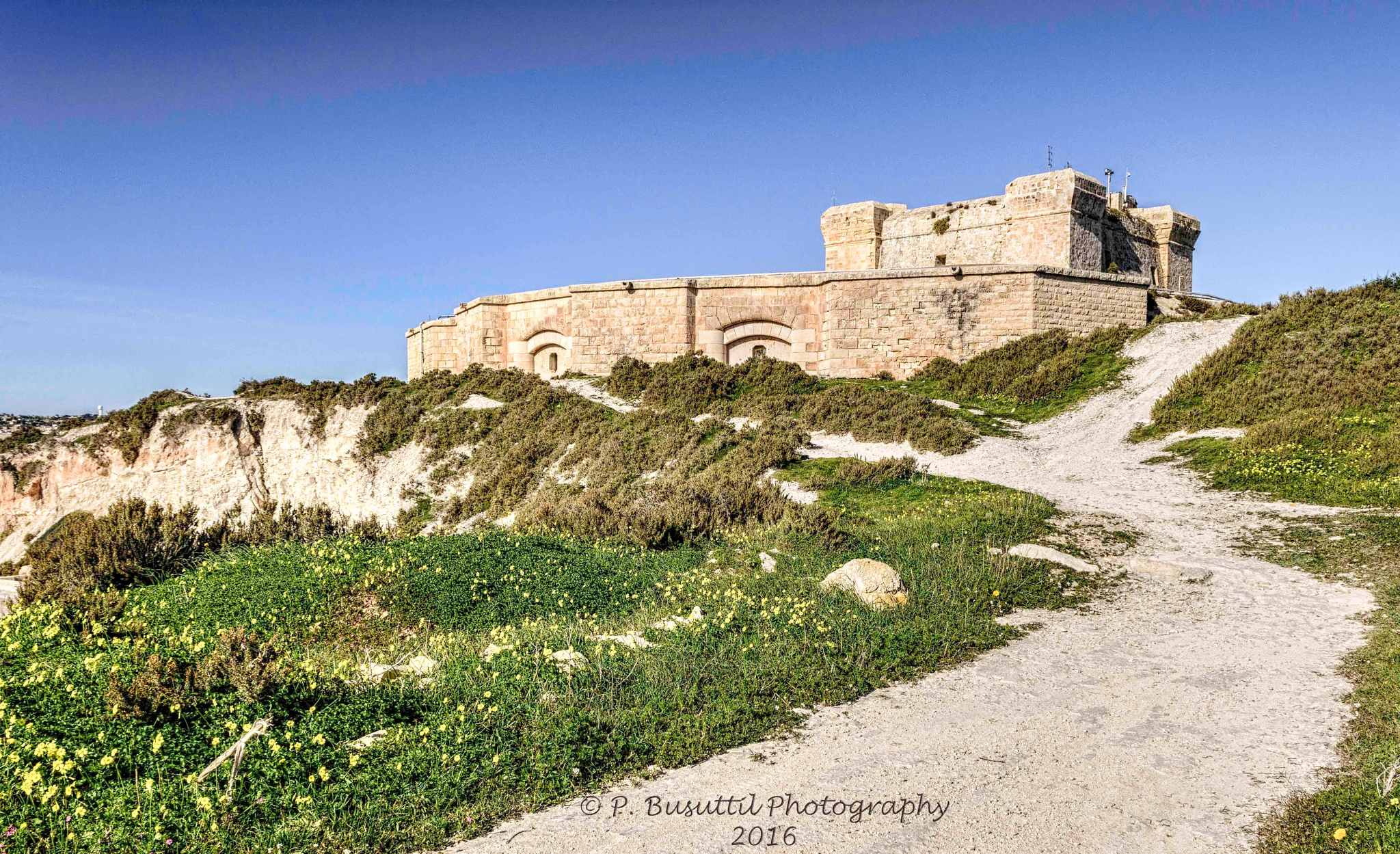 One of Malta's old forts by peter.busuttil