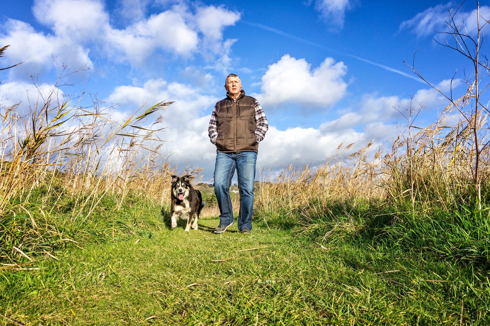 Walking the dog by Gary Martin