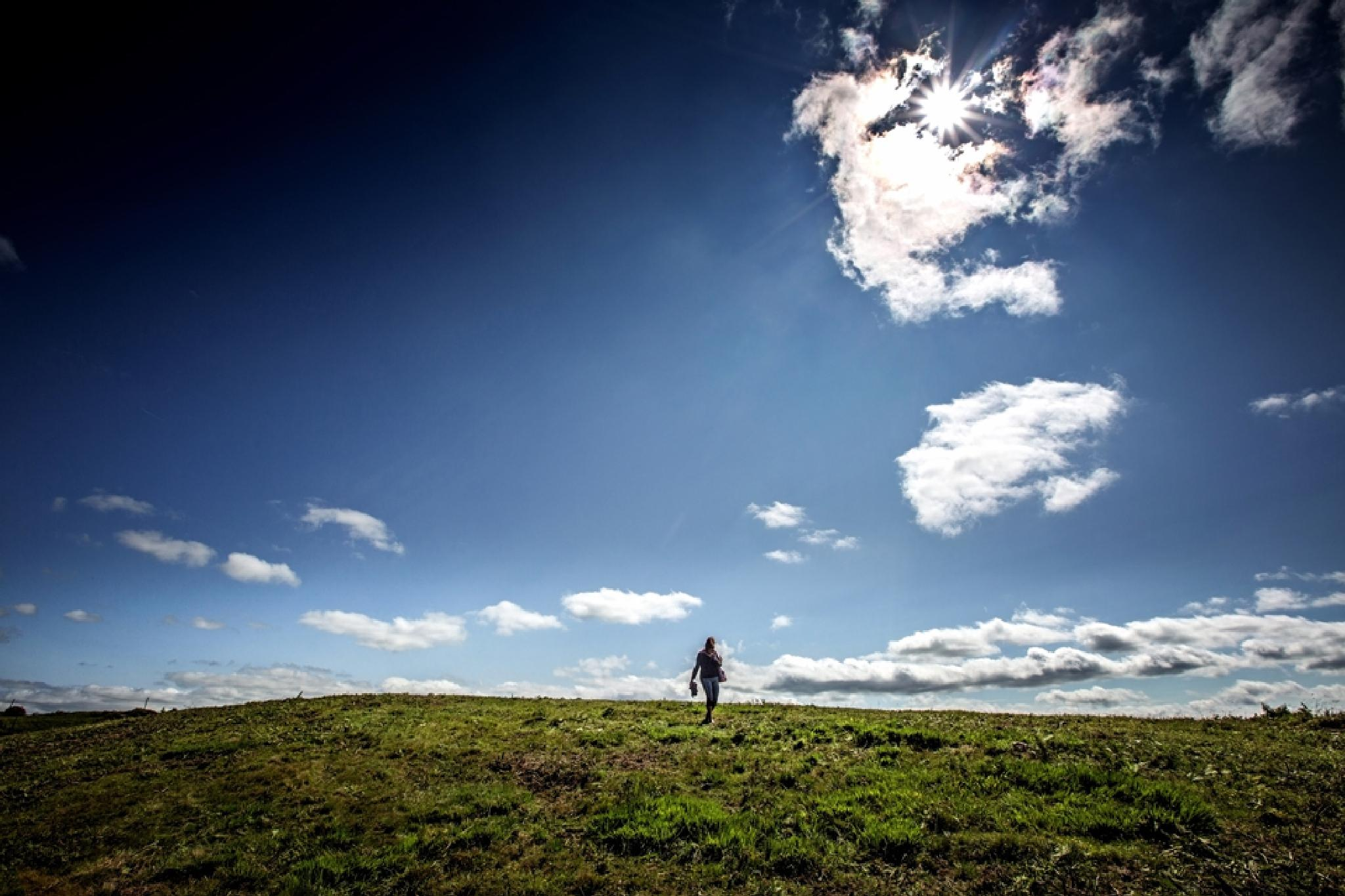 Alone on a hill by Gary Martin