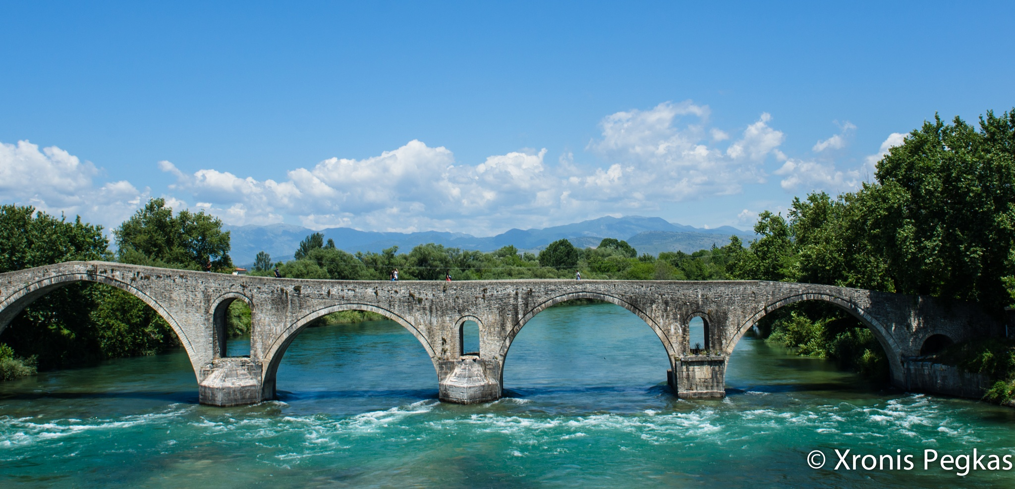 Photo in Architecture #bridge #epirus #greece #river #blue #nikon