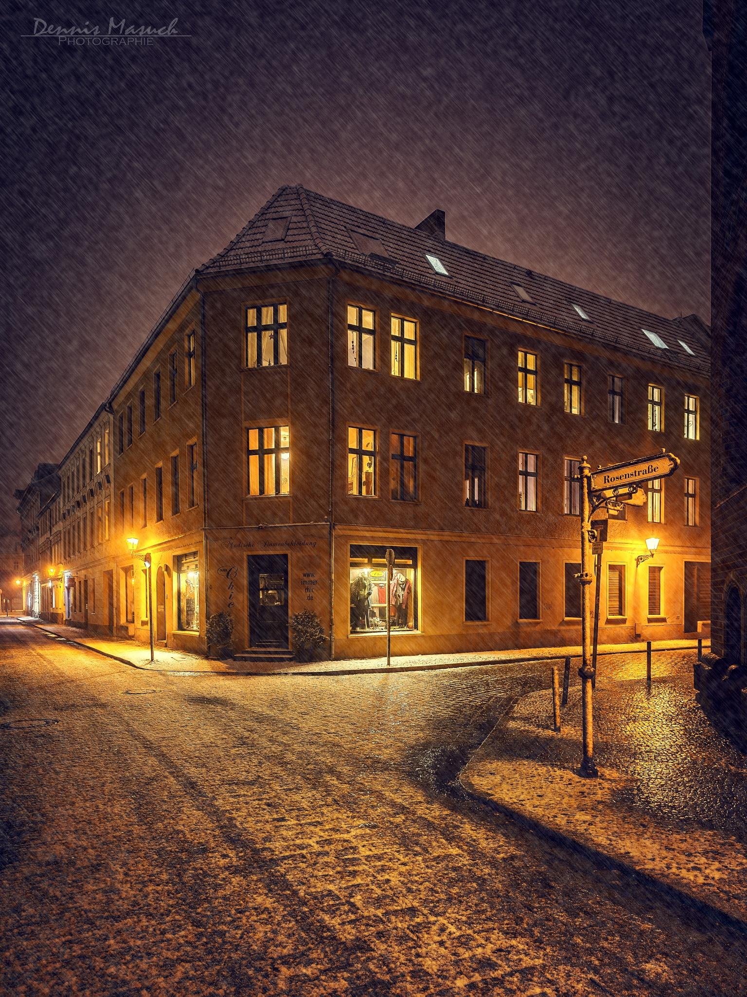 First Snow Berlin Köpenick by Dennis Masuch
