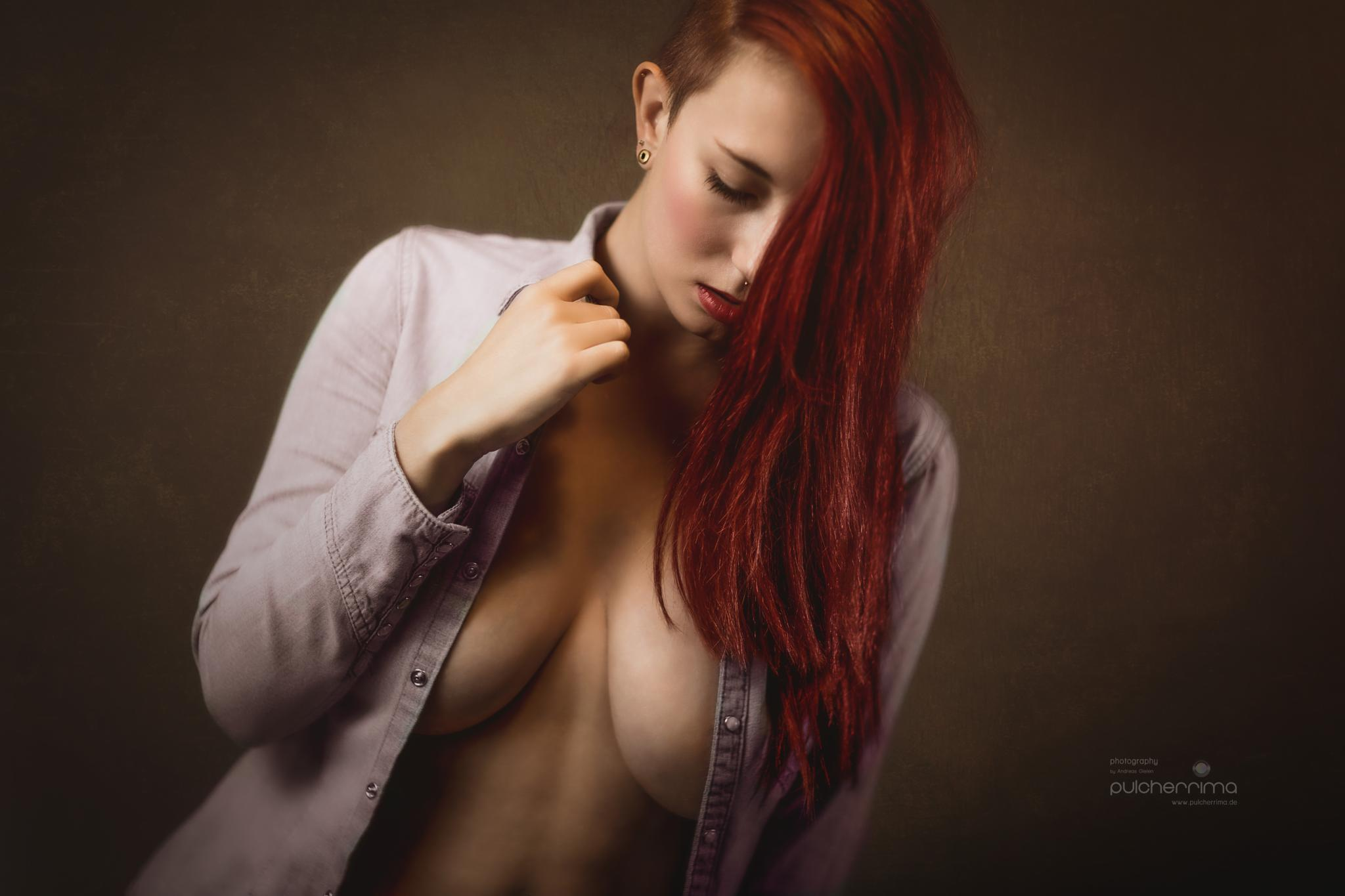 the red hair girl by pulcherrimaphotography