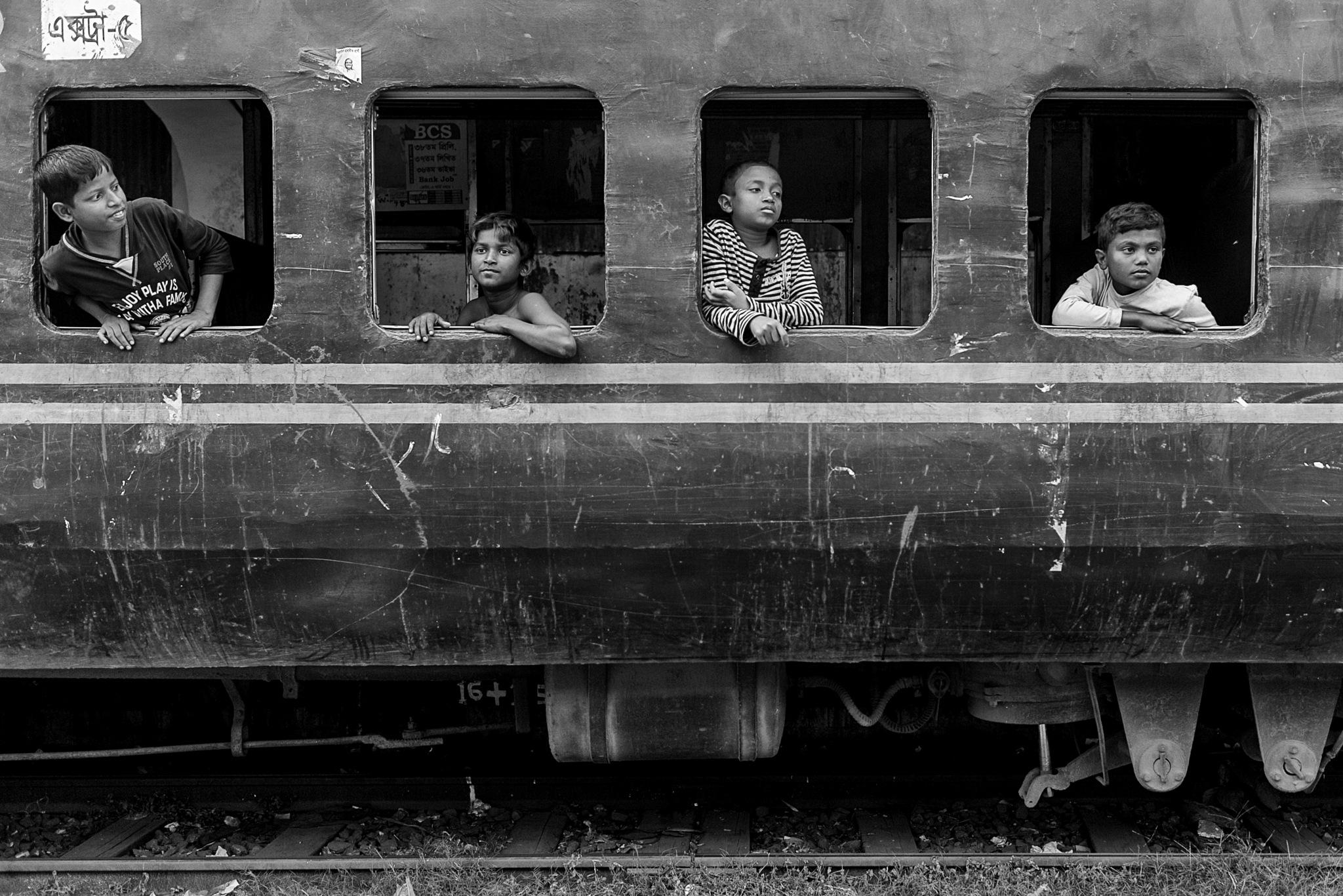 Train Windows by Mahesh Krishnamurthy