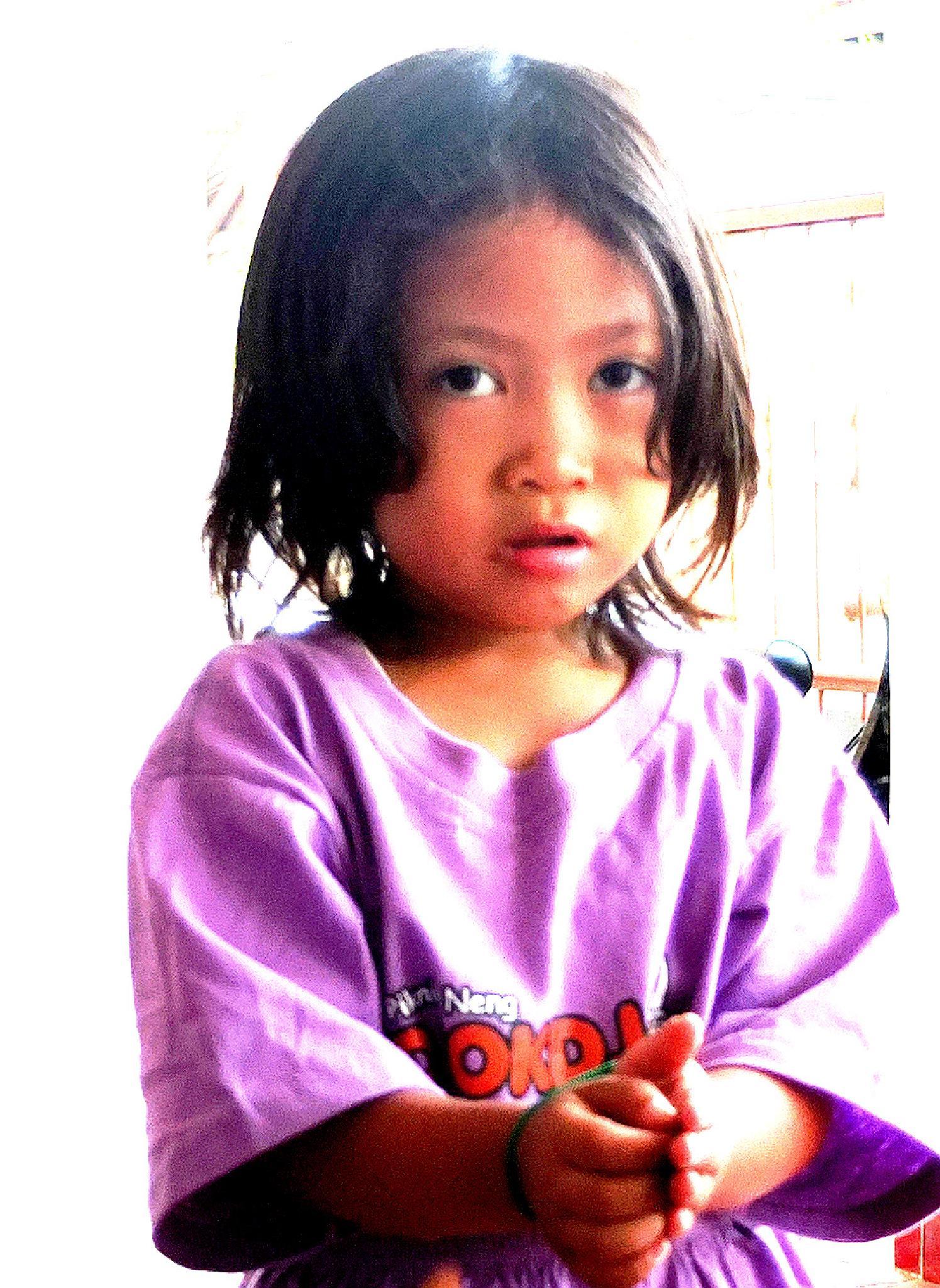 Baby Girl in Purple by Lukiman