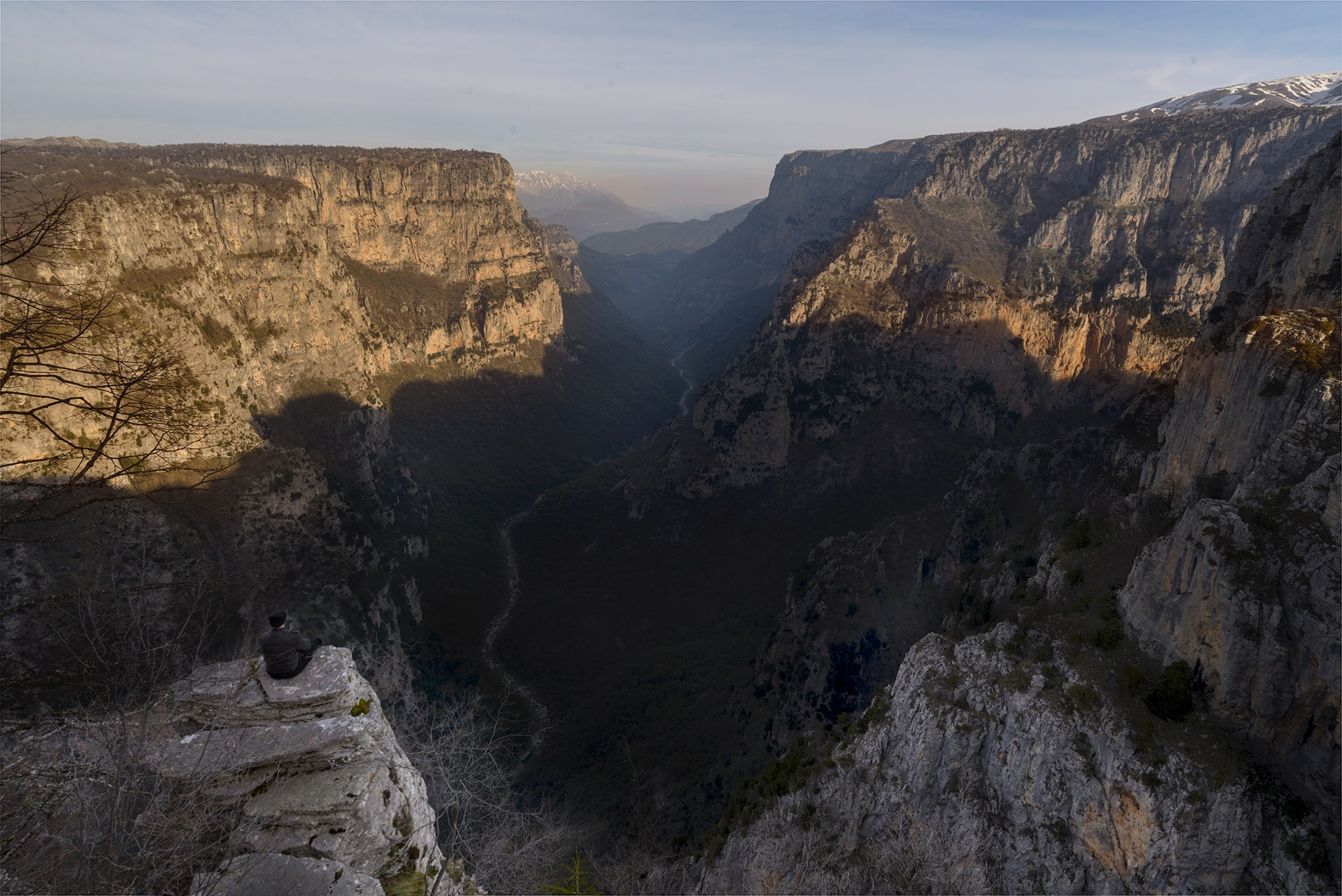 All Alone at Vikos Canyon by Bill Peppas