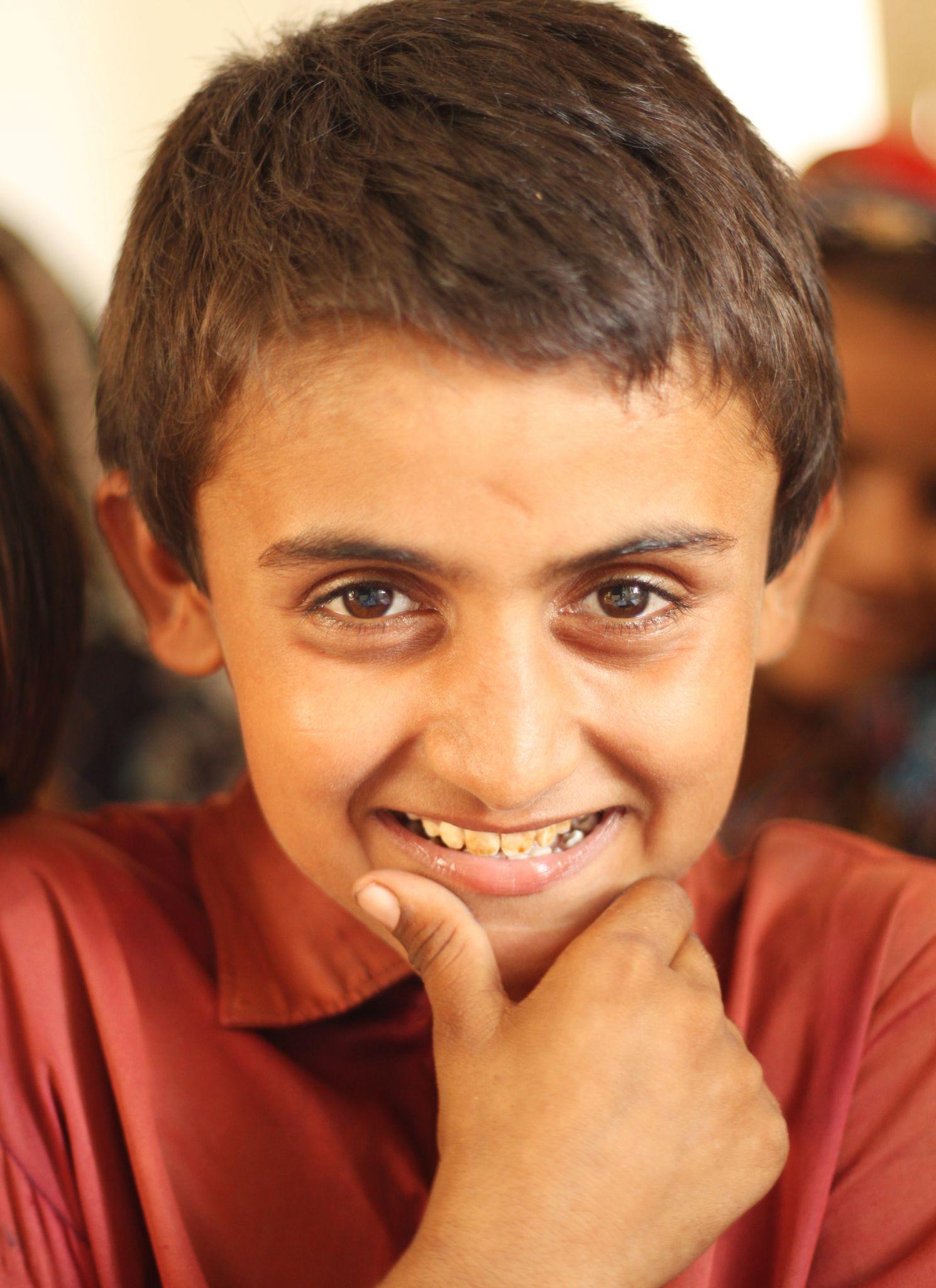 Smiling boy by Manoj Kumar Genani