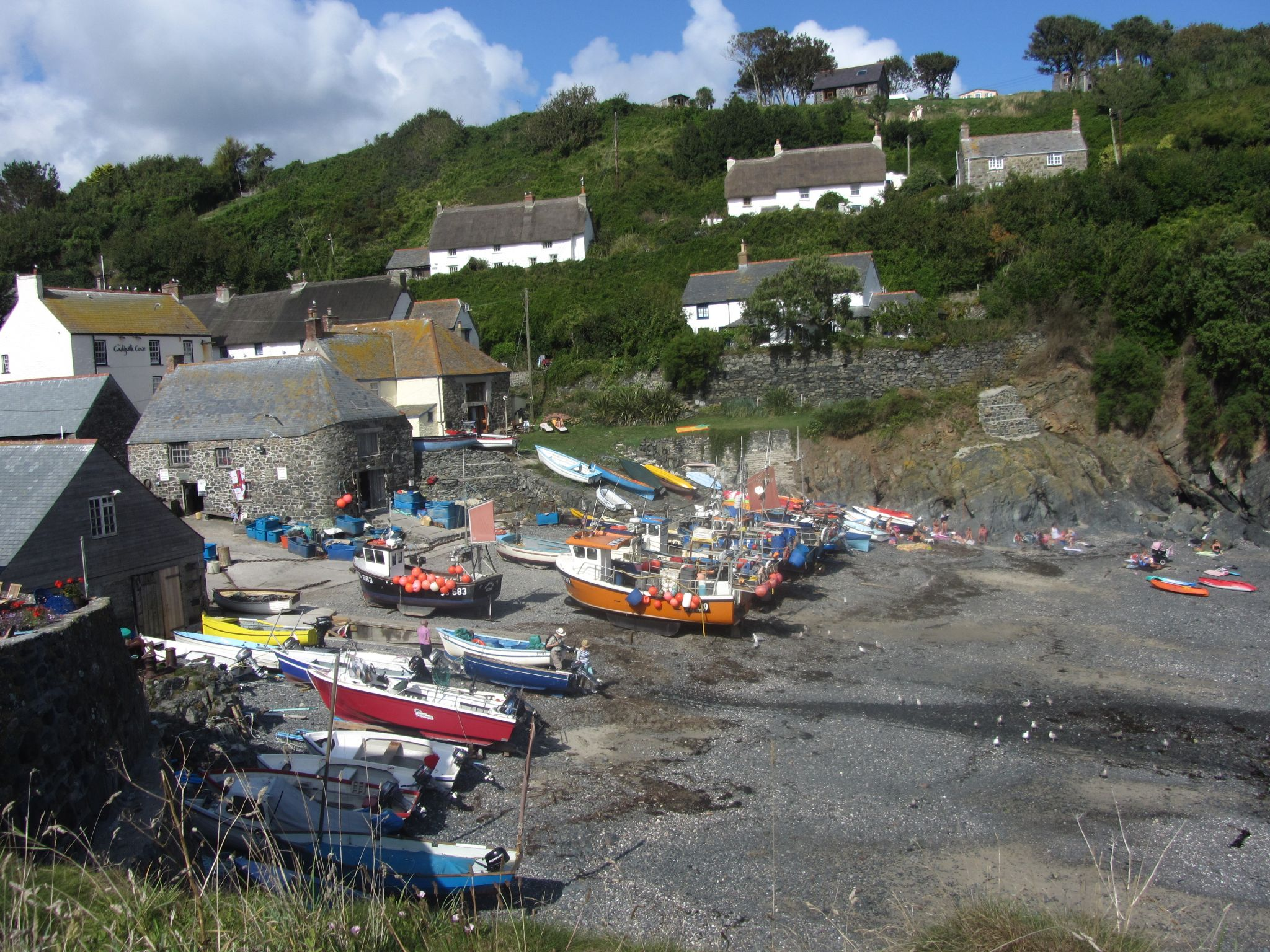 Cadgwith Cove fishing boats by TracyPooleDodsworth