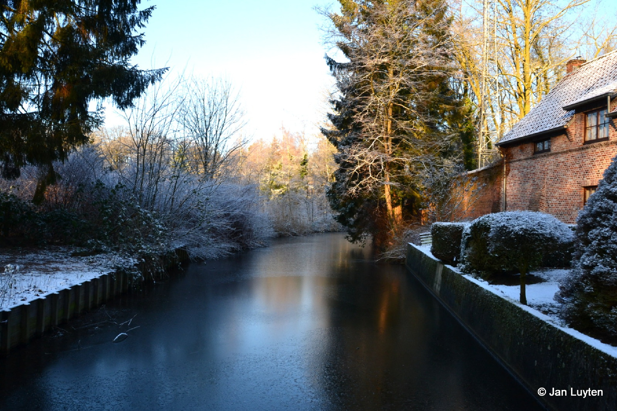 Winter in Postel by Jan Luyten
