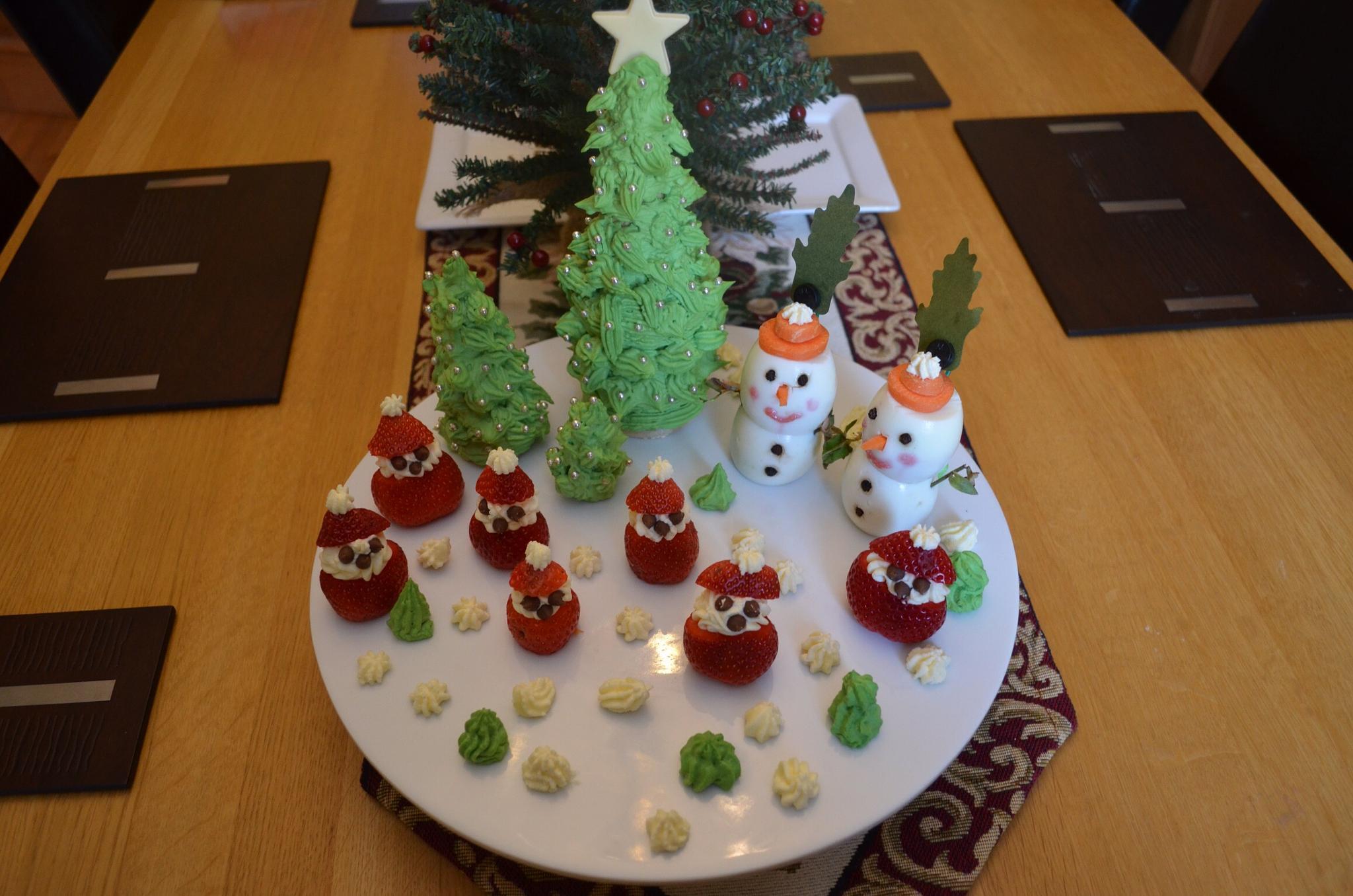 Food art Winter Festivities creation by ksoar1