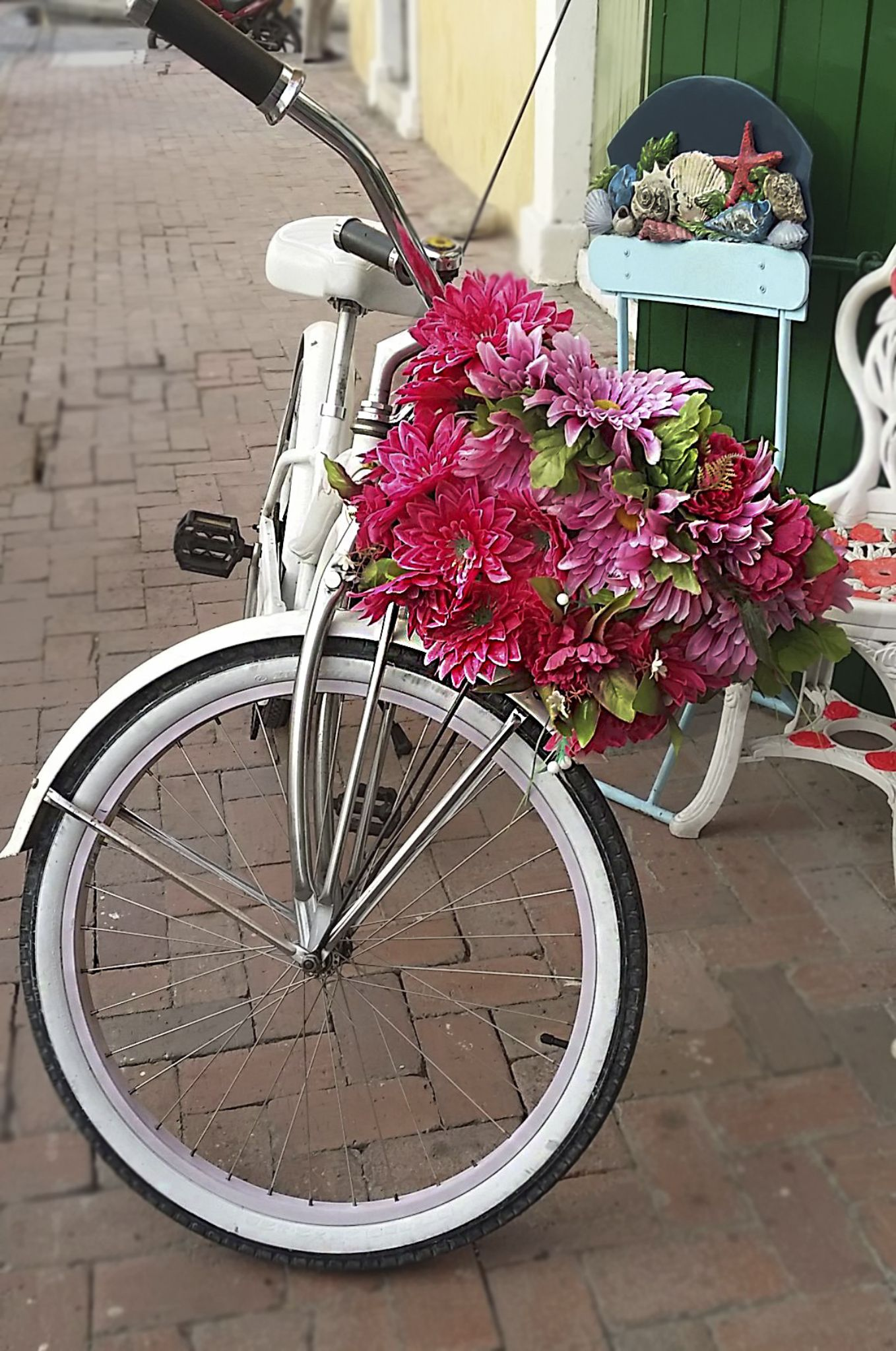 Flowered bike by Edgar Serna