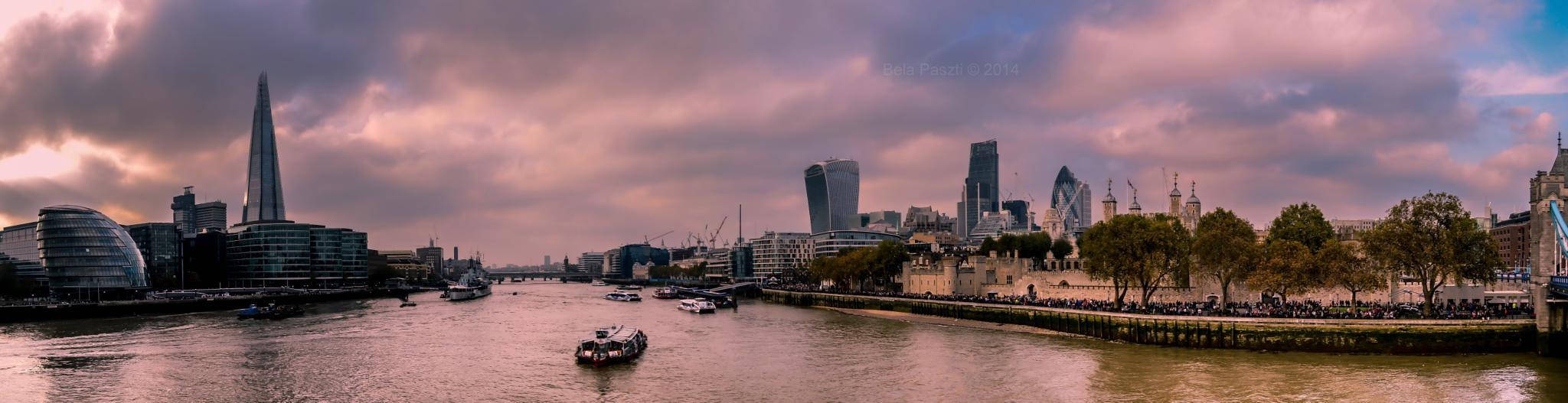 panorama from Tower Bridge by BelaPaszti