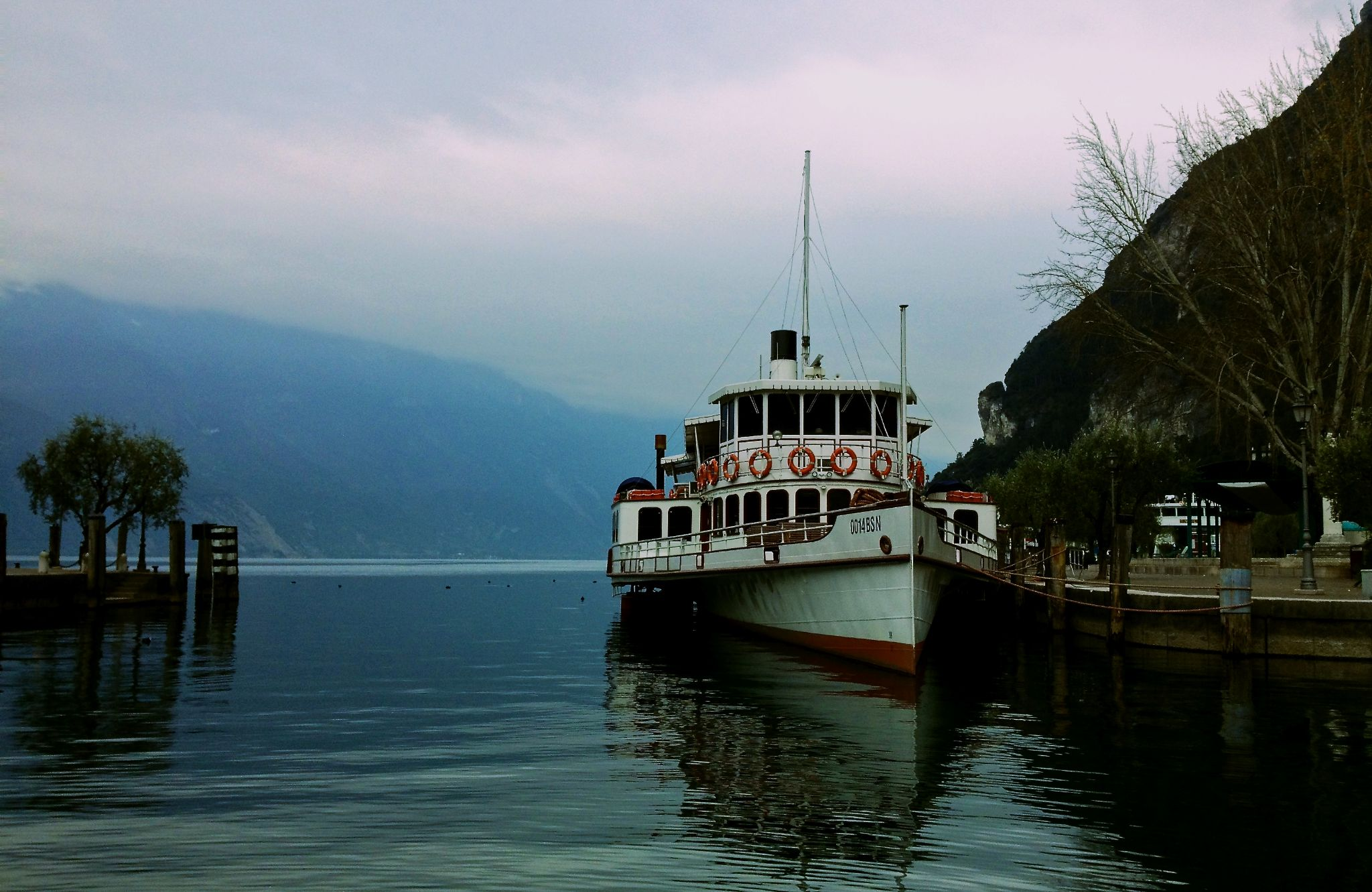 A ferry in Riva del Garda by SolidMac