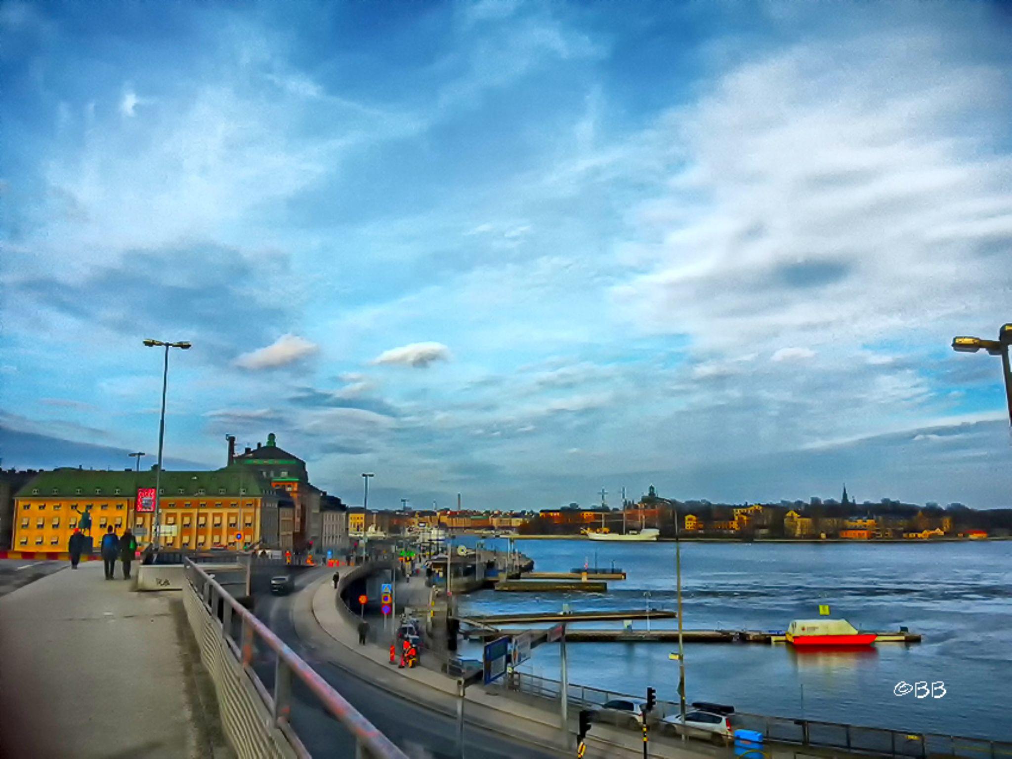 Slussen in Stockholm by Björn Brounéus