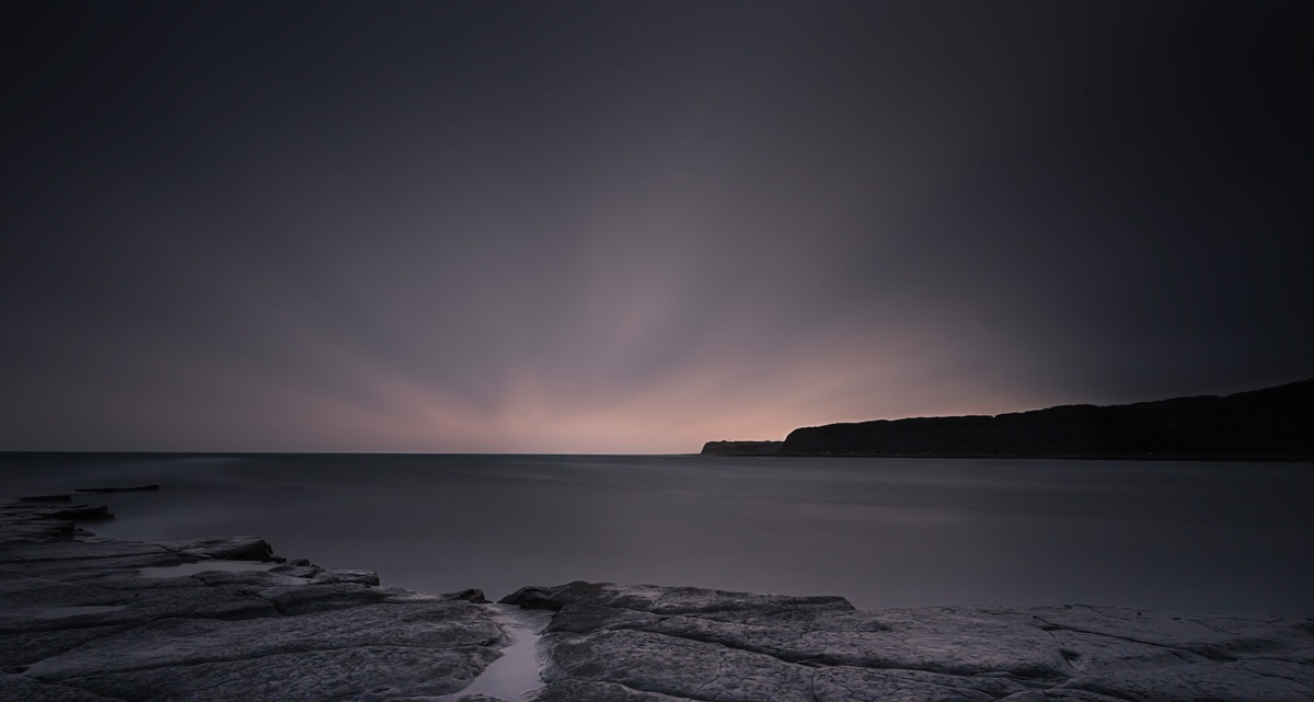 Sunset- Kimmeridge.  by mgj