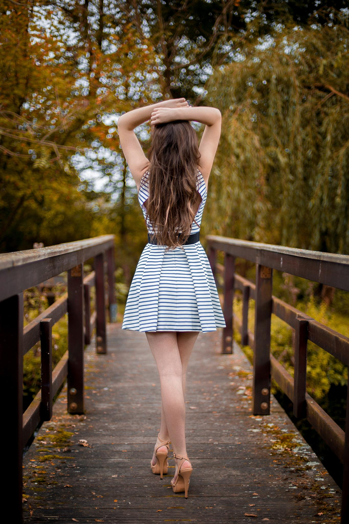 Photo in People #model #nature #female #woman #emotion #autumn #bridge