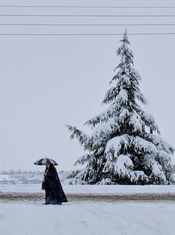 Lady in snow by malekjmd10