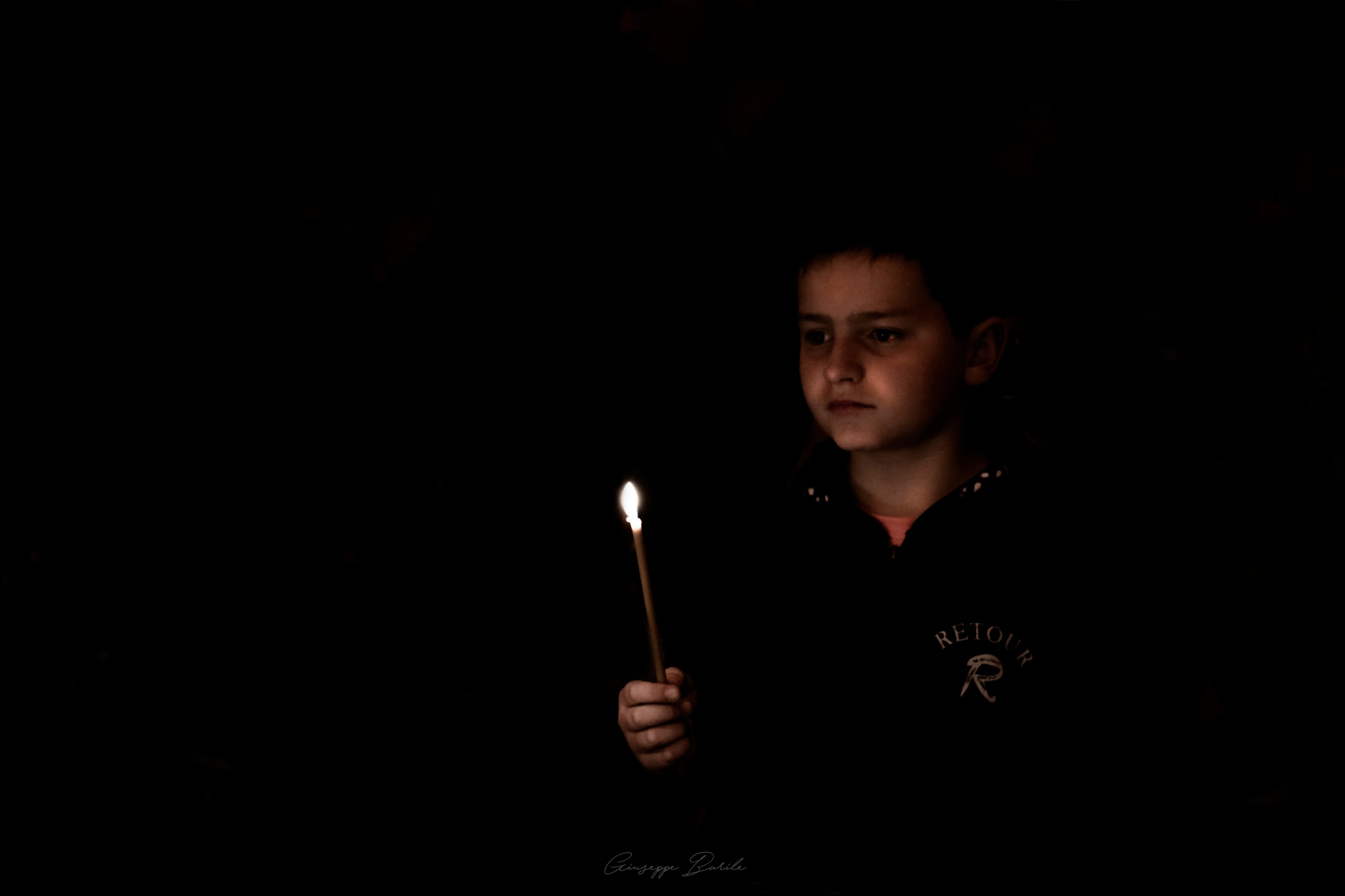 Baby's candle by Giuseppe Barile