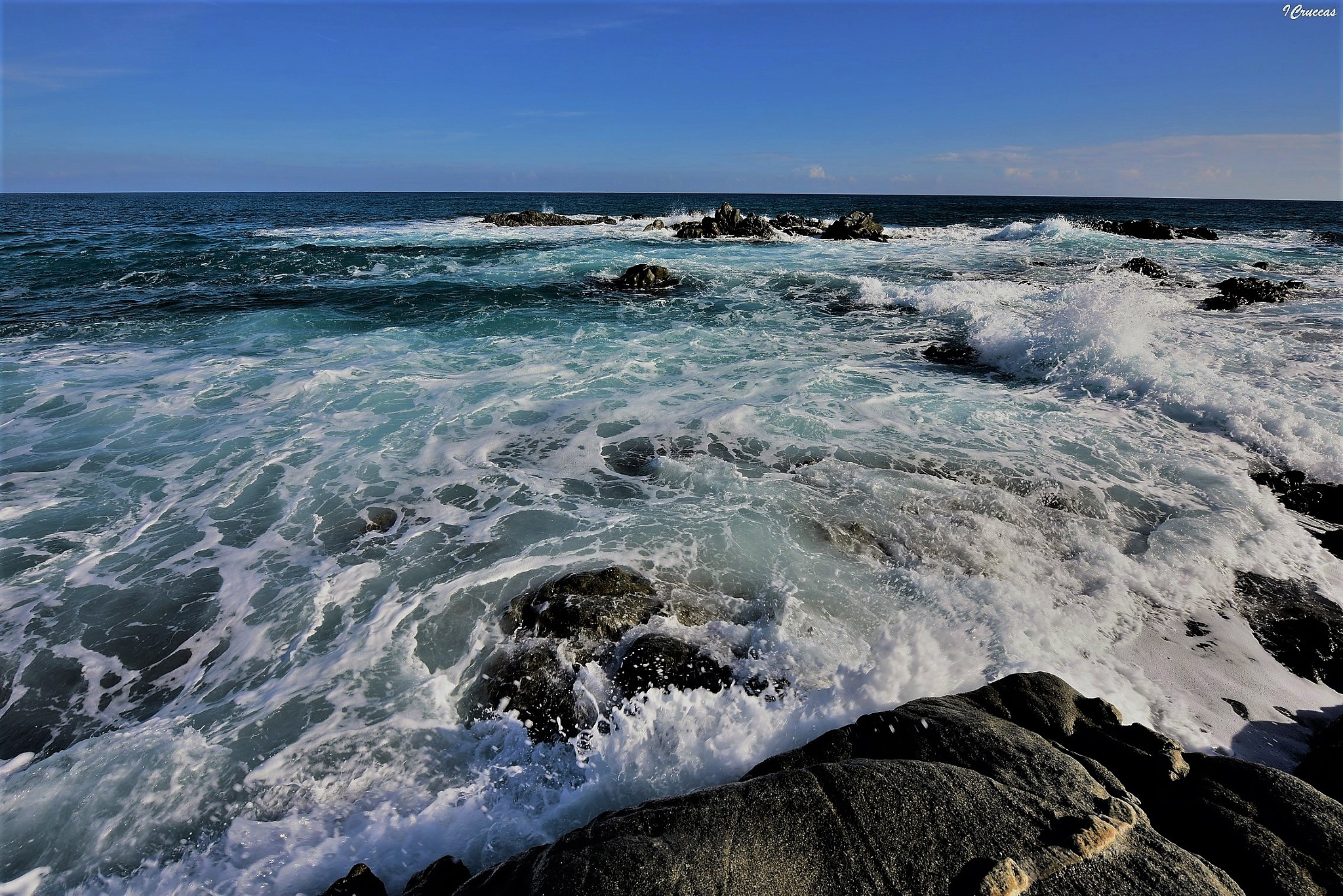 With a sea like that by ignazio cruccas
