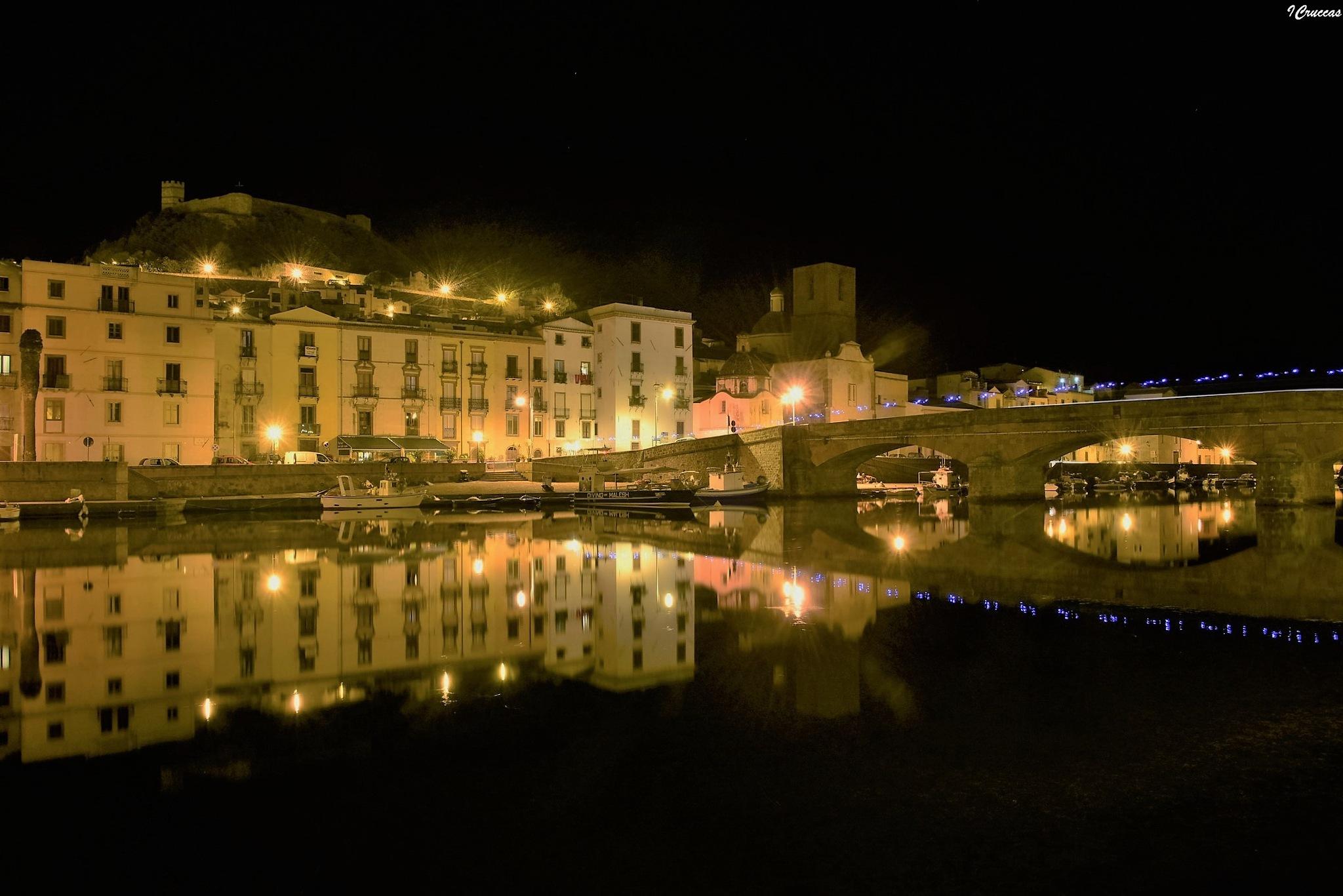 Bosa (Sardinya) Italy, by night by ignazio cruccas