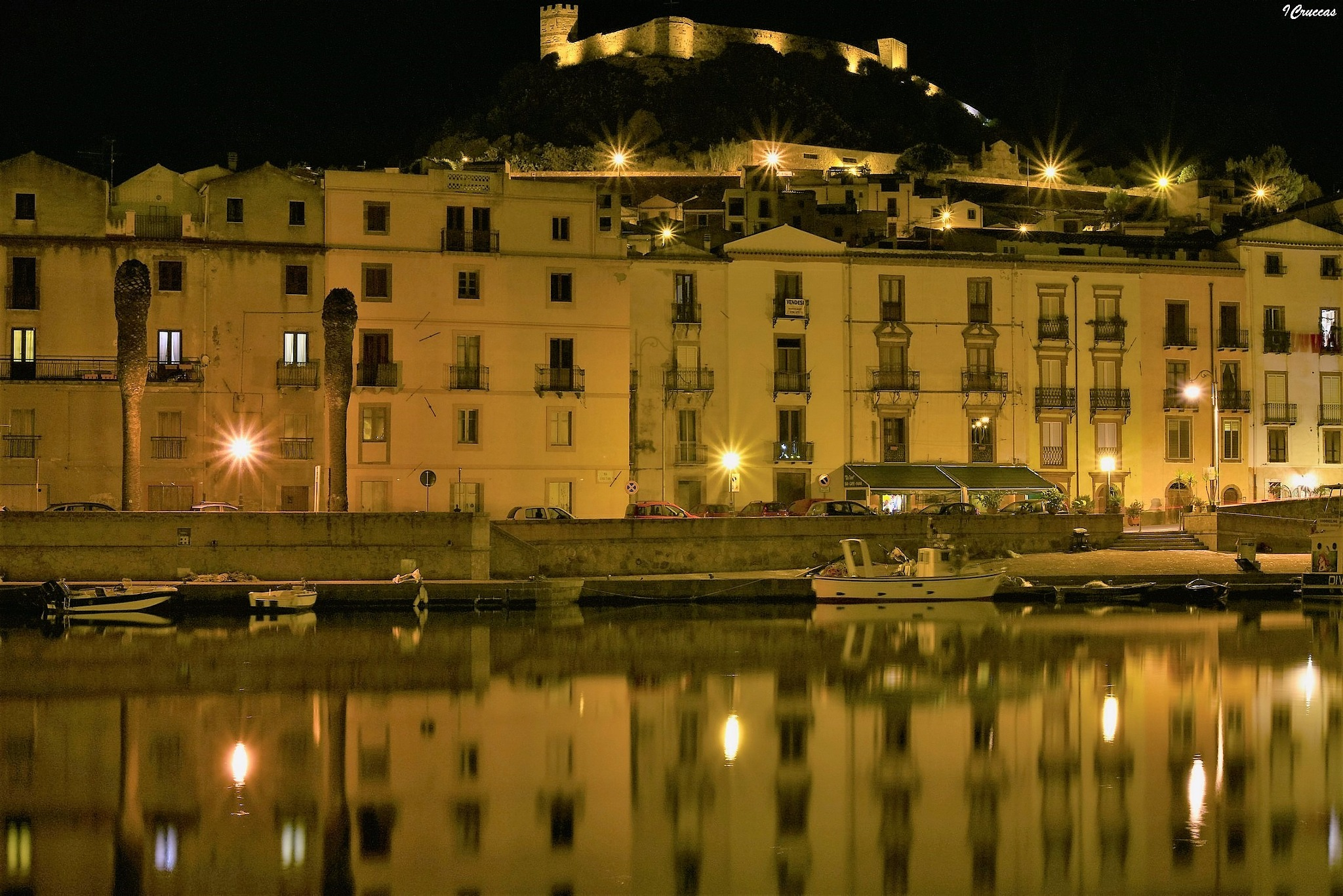 Reflections by night by ignazio cruccas