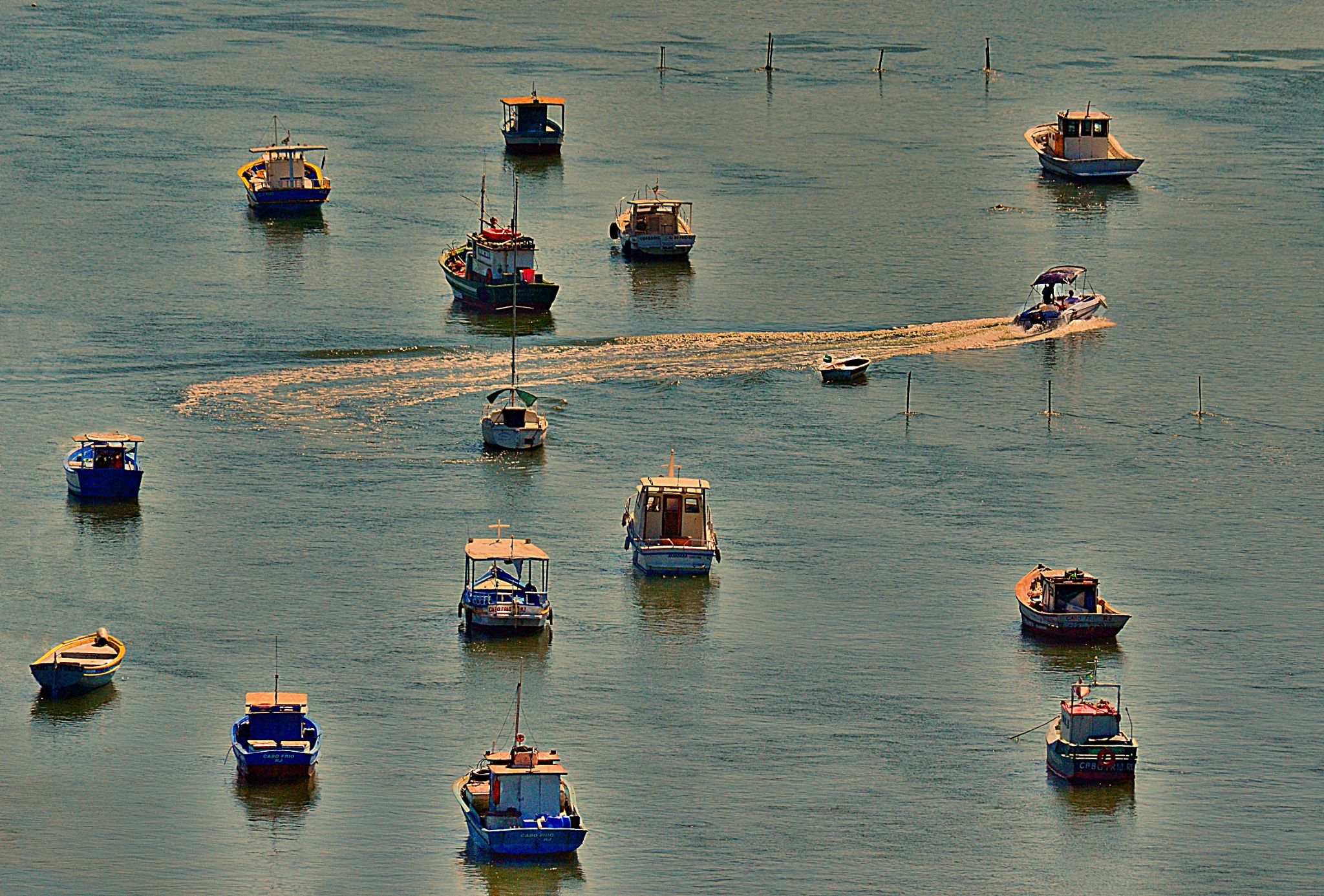 Among the anchored boats by valcir.siqueira.7