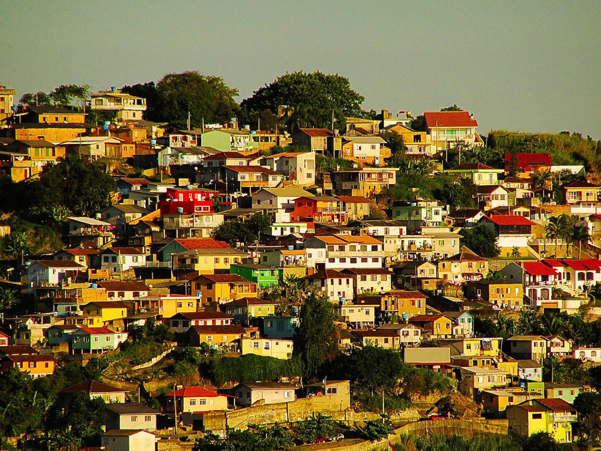 Houses at sunset - Hill in Florianopolis - Santa Catarina - Brazil by valcir.siqueira.7