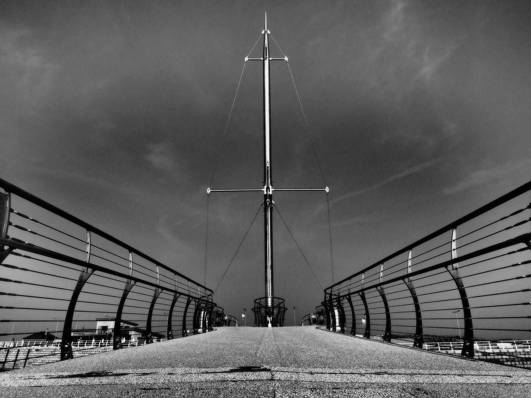 Footbridge Rhyl by haydn.greenow
