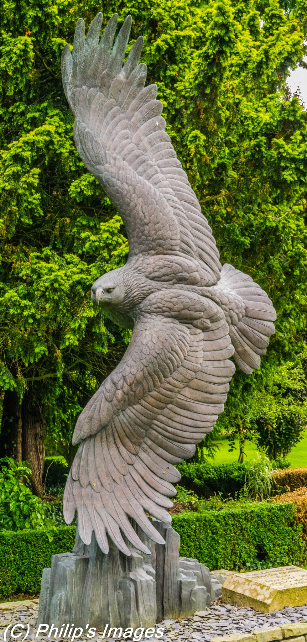 Eagle sculpture by philips images