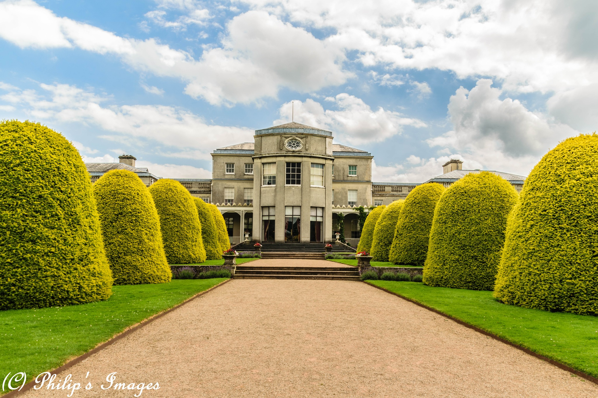 View of Shugborough from lake side. by philips images