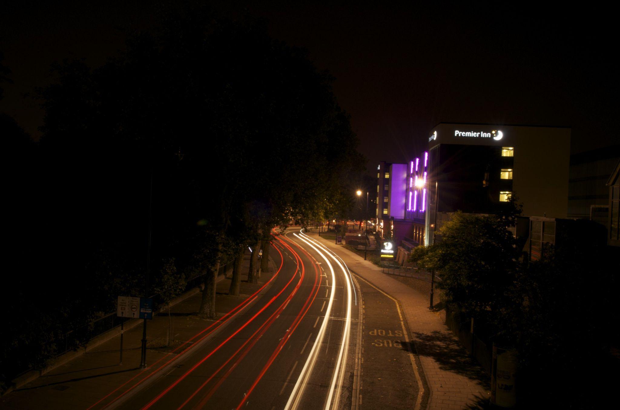 Premier Inn light trails by Rob Williams