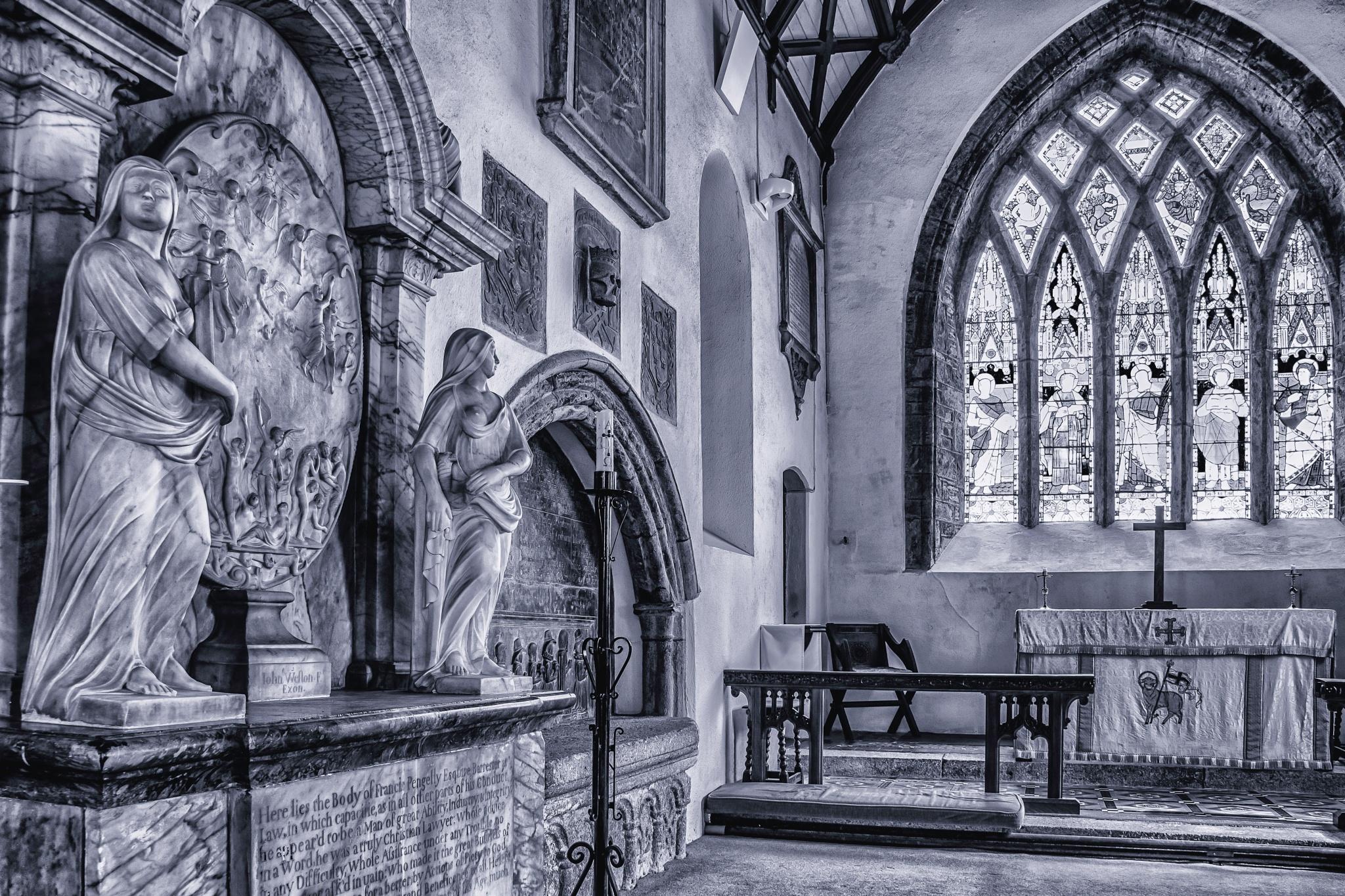 church scene by phillip ticehurst
