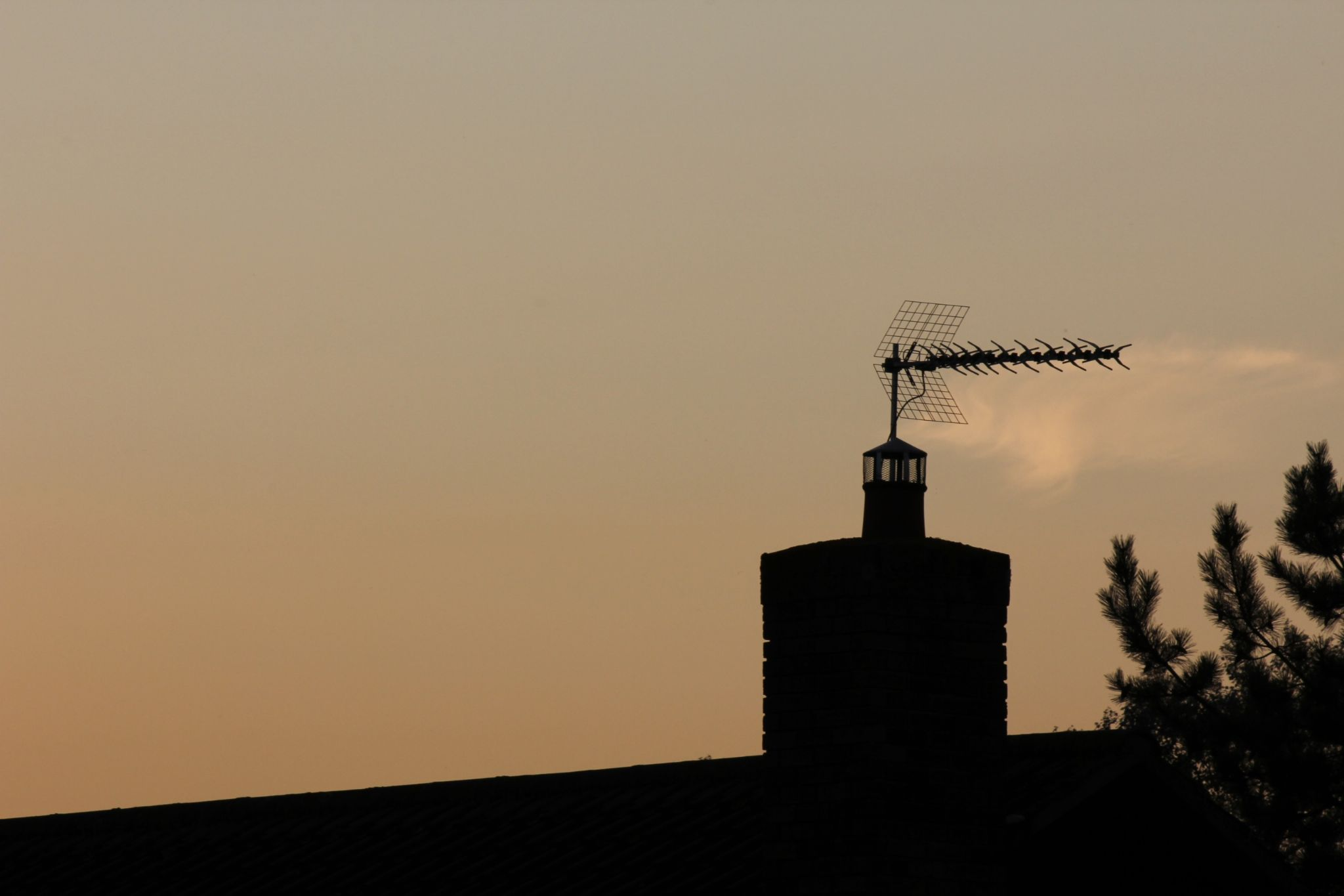 Chimney Silhouette by Tyler Nightingale
