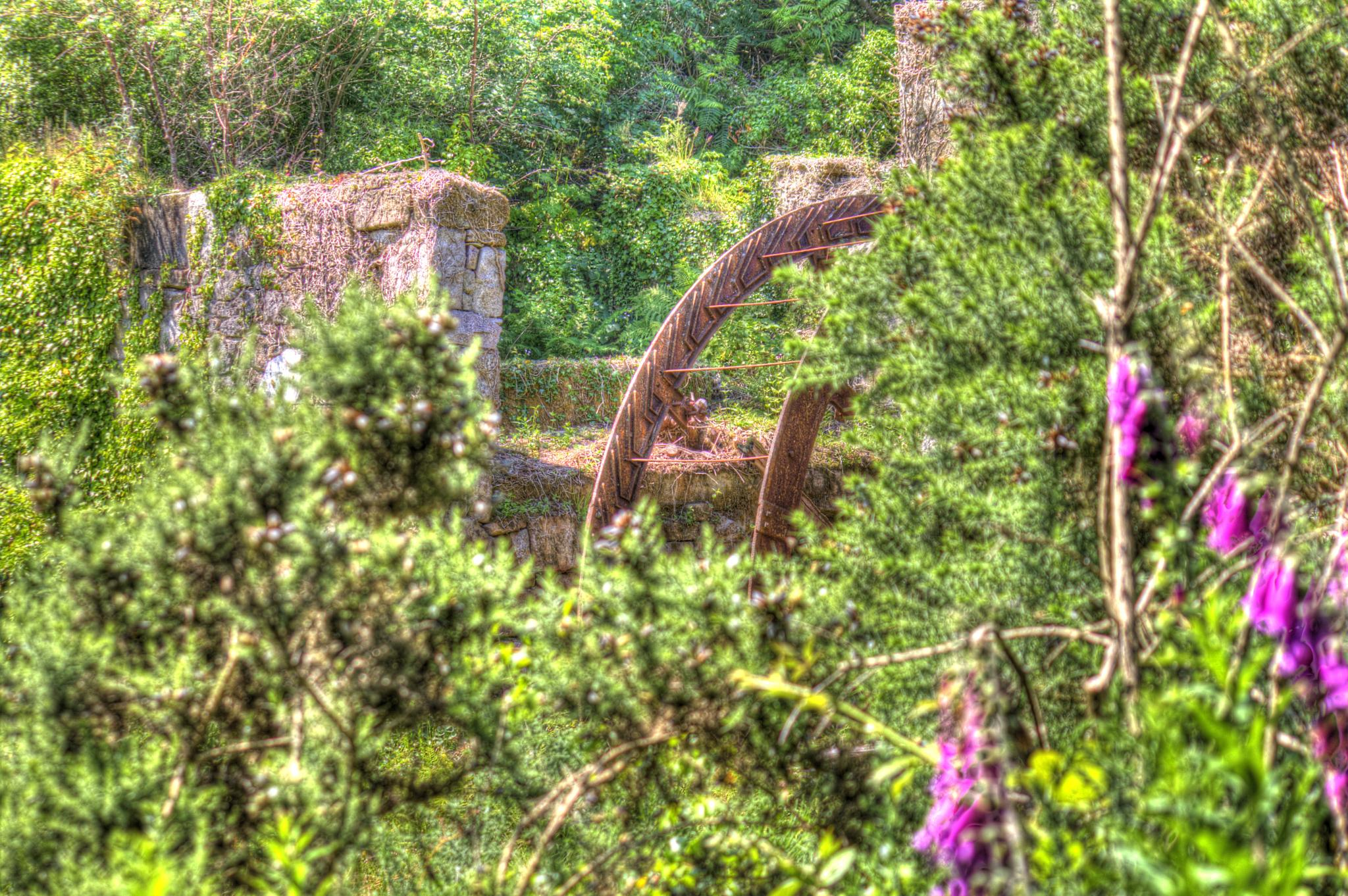 Photo in Industrial #cornwall #waterwheel #landscape #china #stone #disused