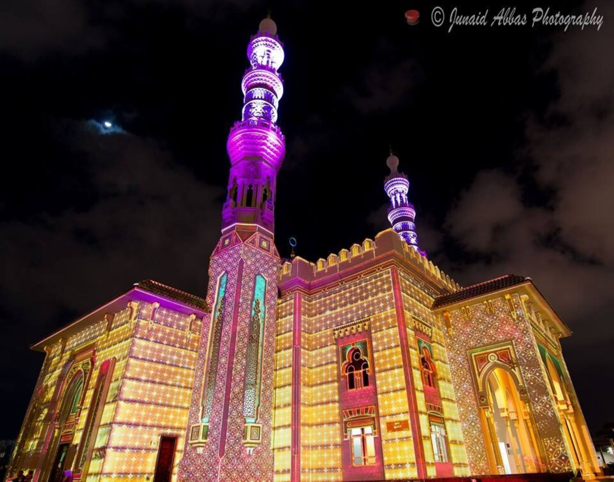 Light Work on Mosque by Junaid Abbas