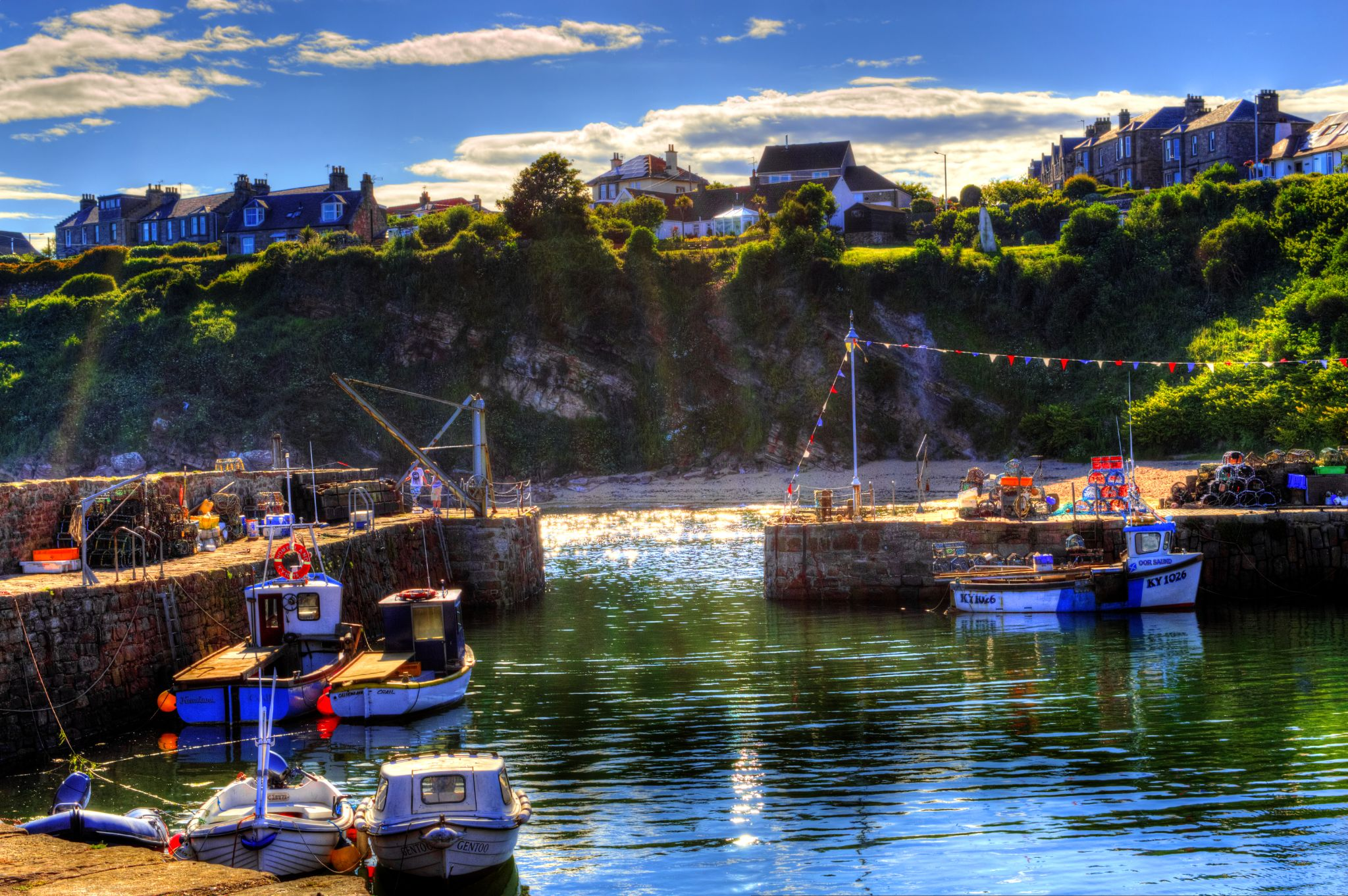 Crail Harbour, Fife by Rob