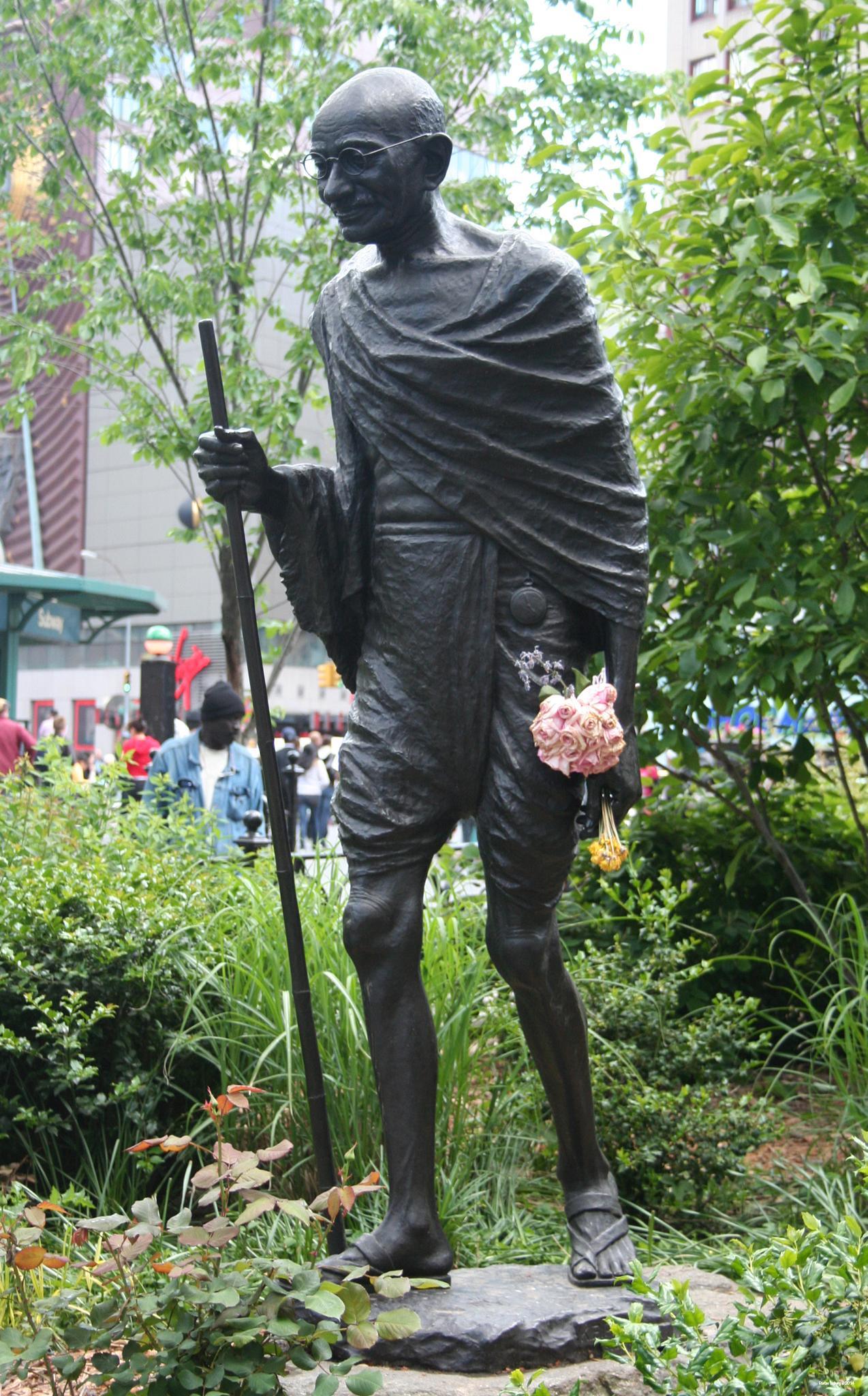 Ghandi as a flowerboy by Stefan Troberg