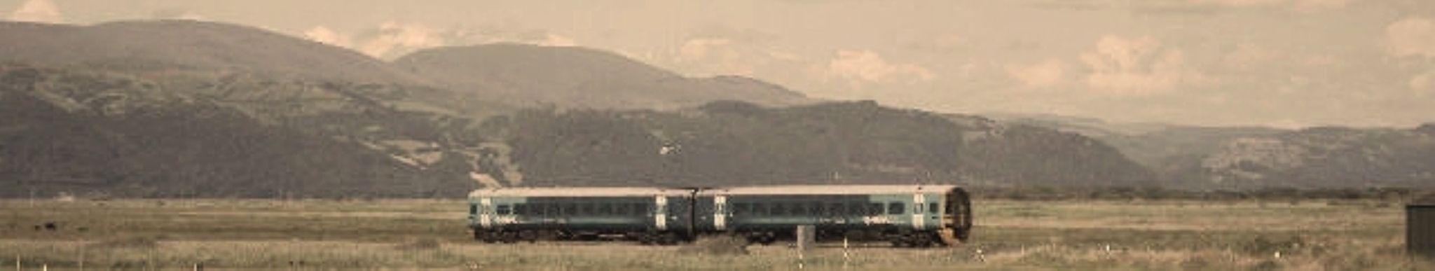 train to aberystwyth at borth by chris.adams.3557