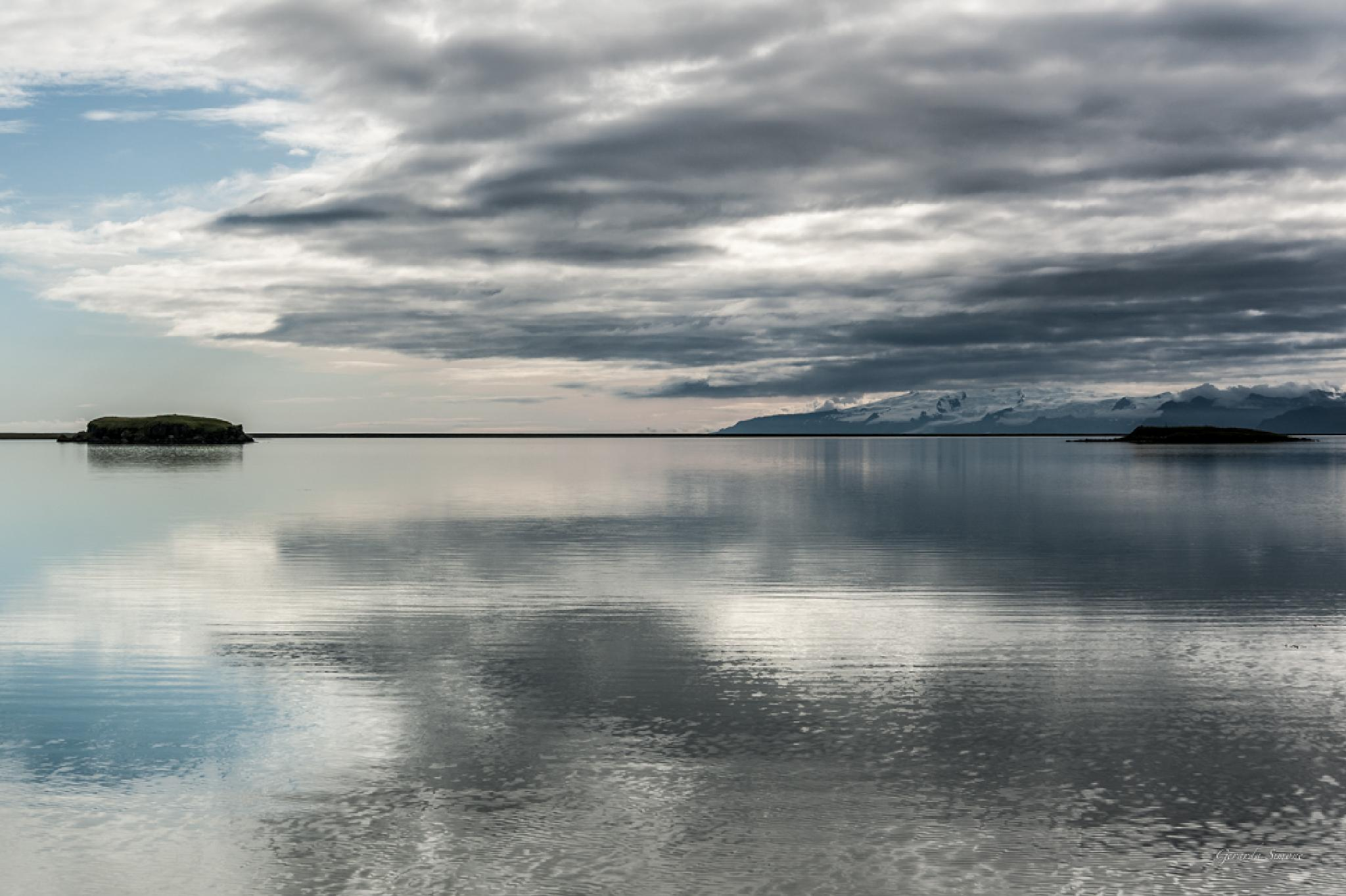 Photo in Landscape #reflections #water #sky #clouds #iceland