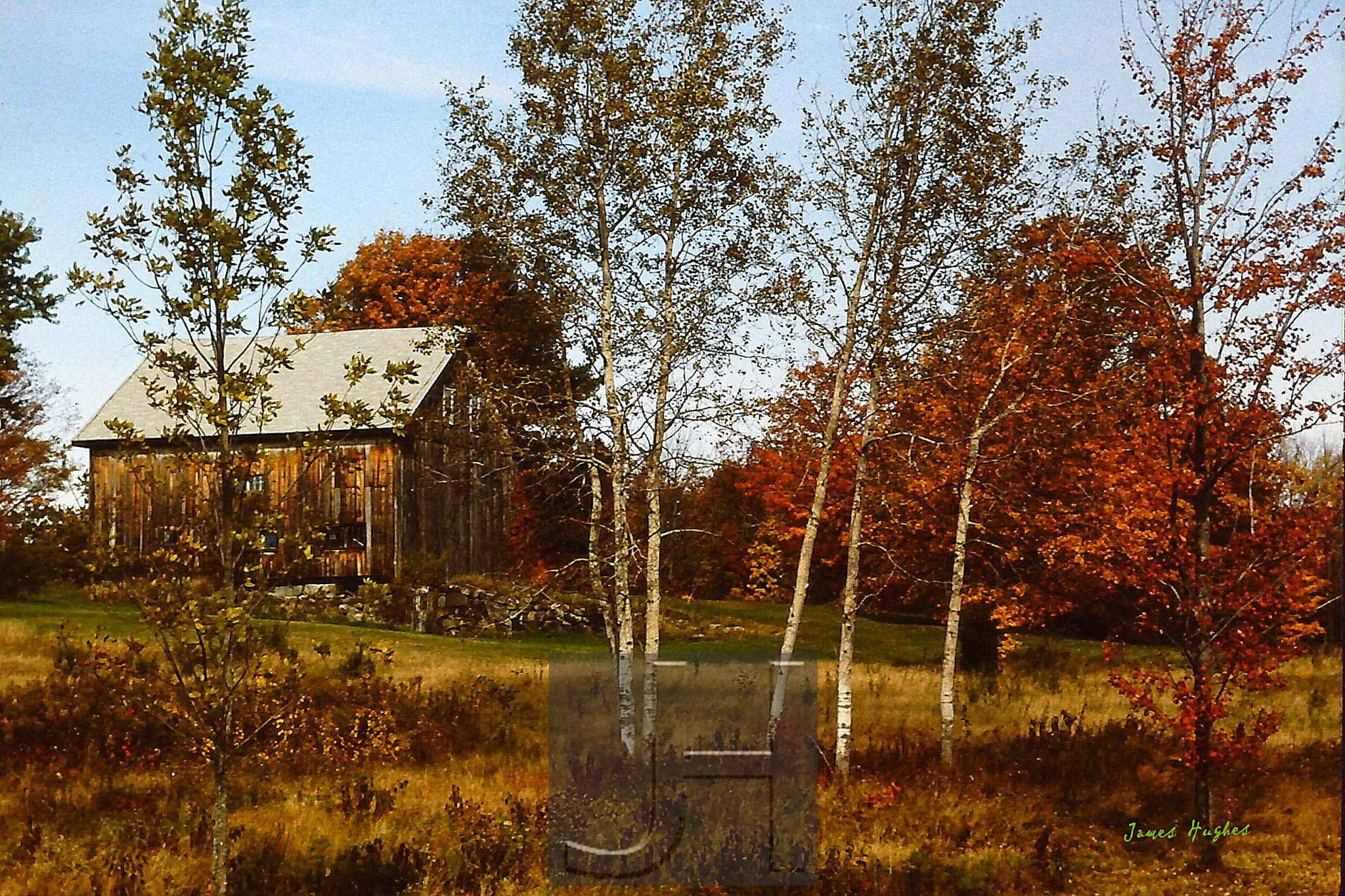 Barn in White Birches by James Hughes Photography
