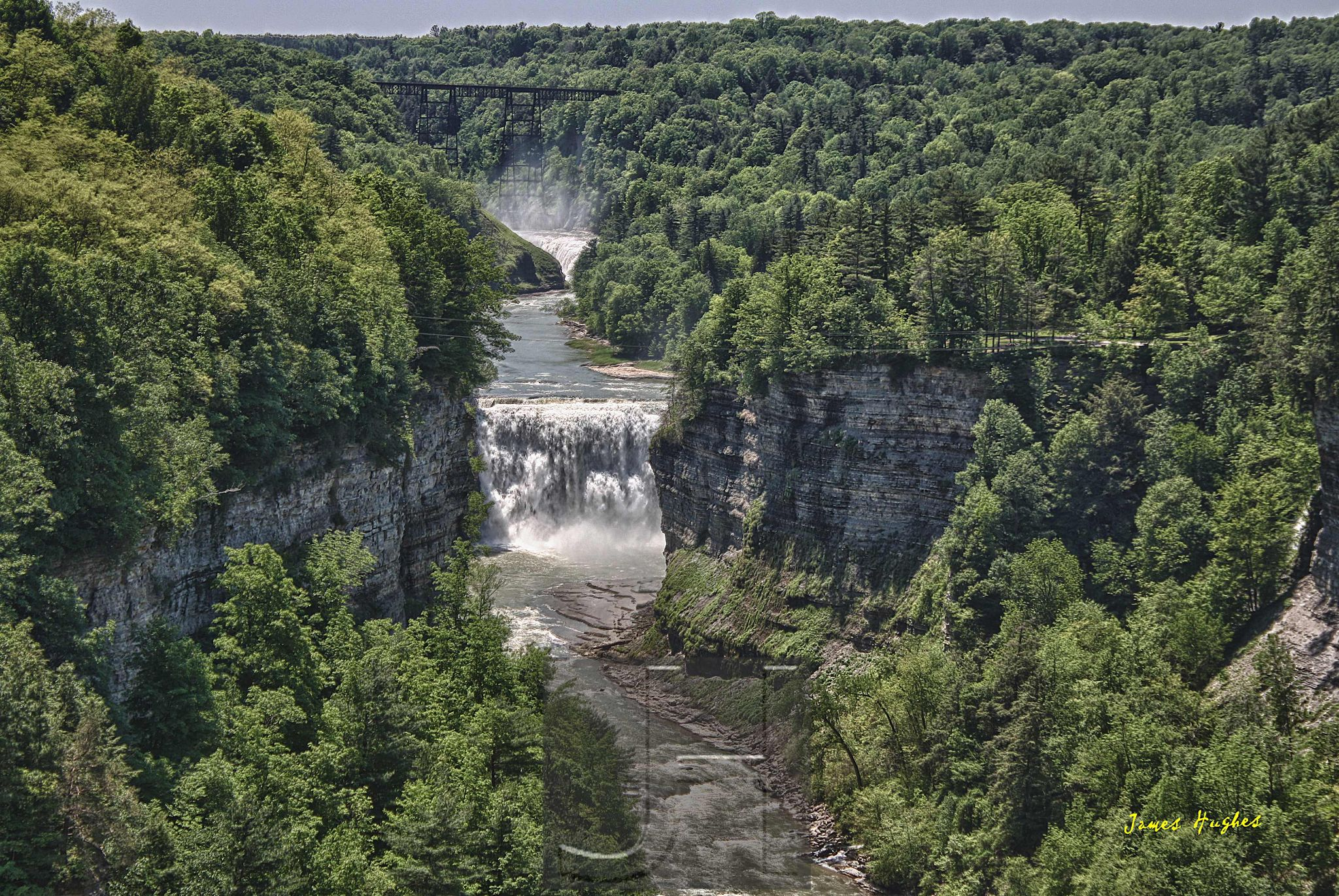 Upper and Middle Falls by James Hughes Photography
