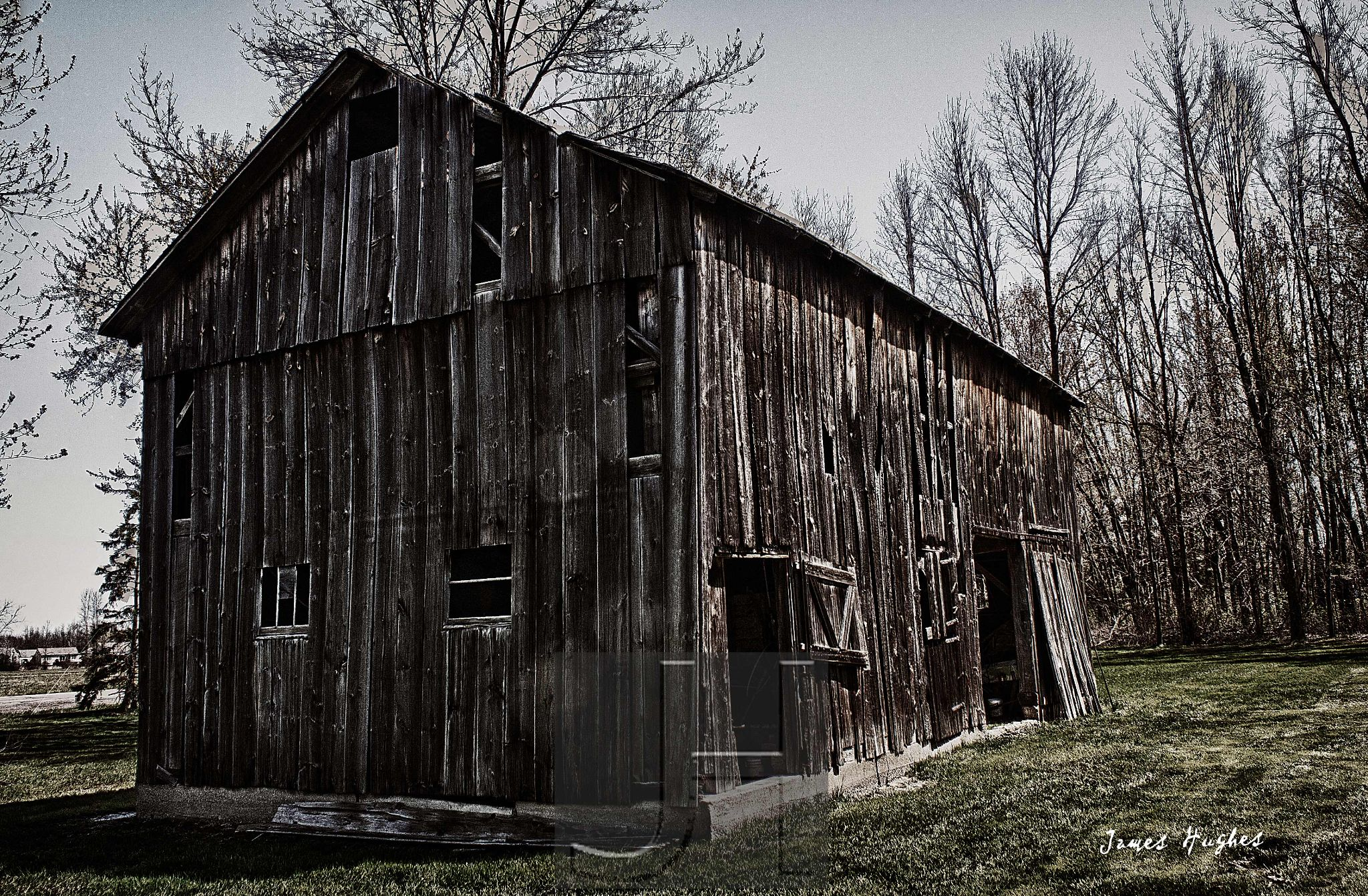 Abandoned Barn by James Hughes Photography