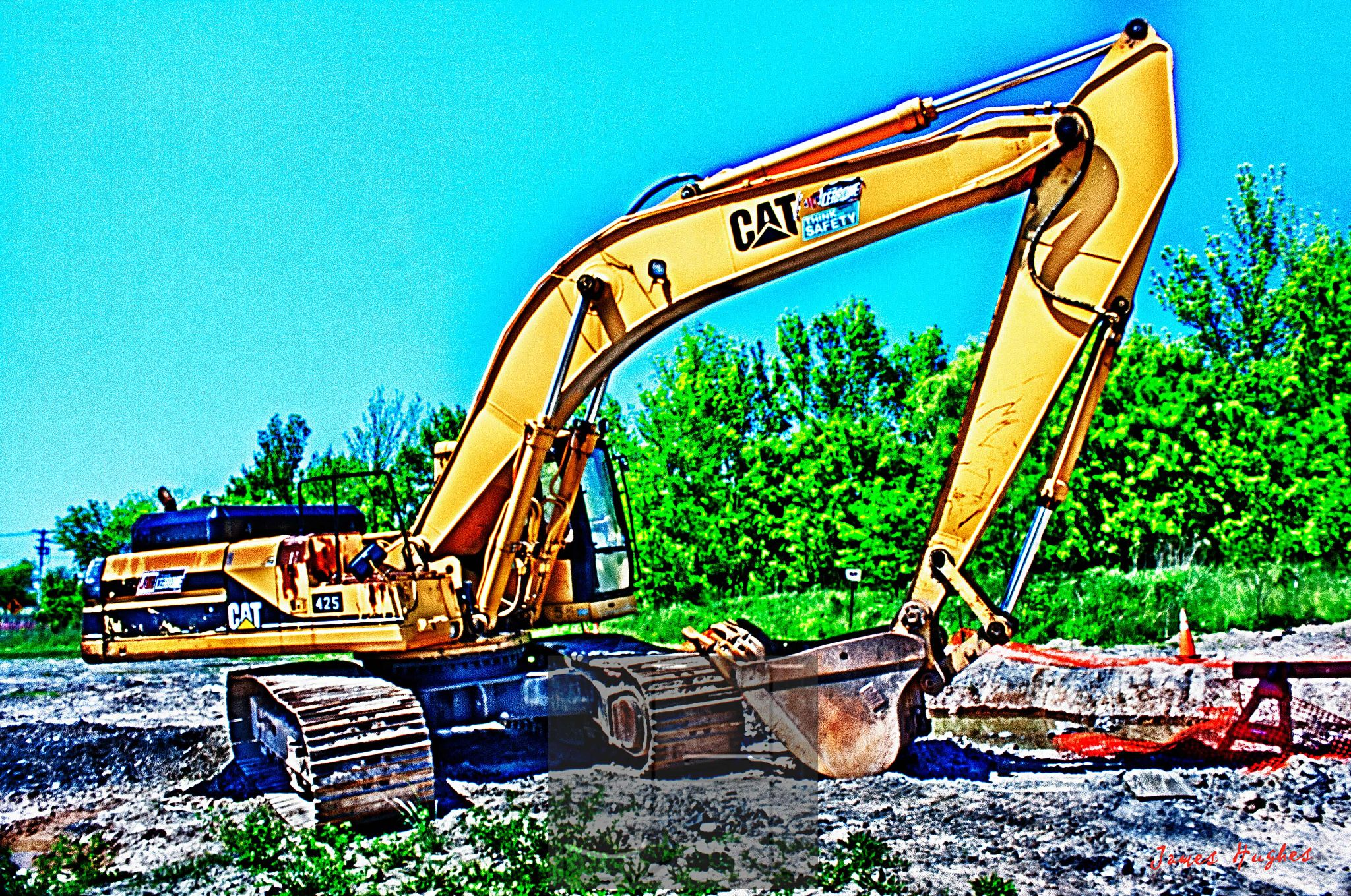 Backhoe 1 by James Hughes Photography