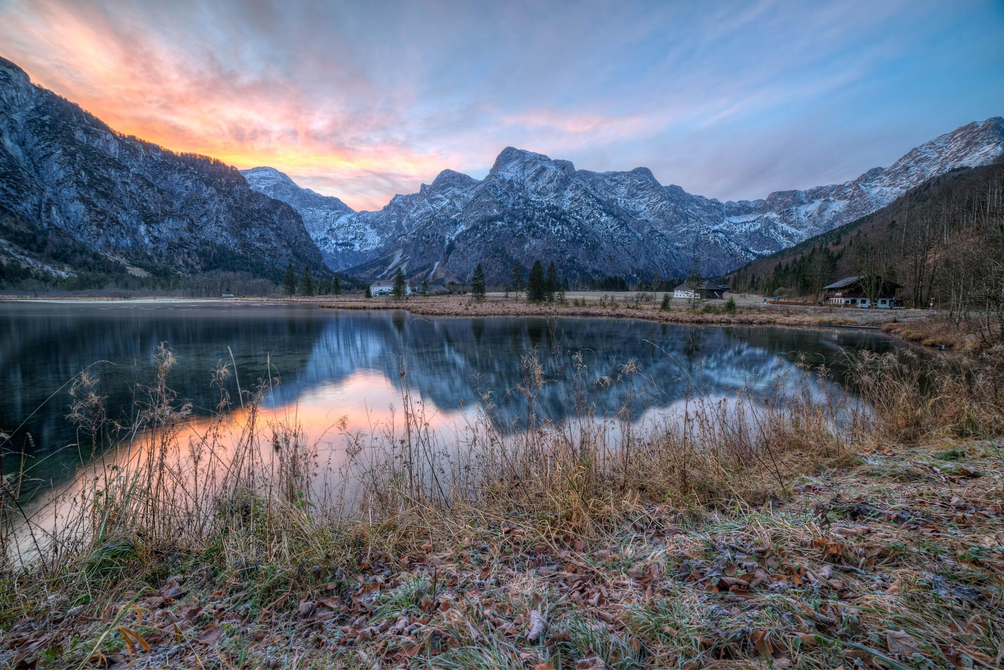 Sunset @ Almsee, Austria by Pixmil Photography