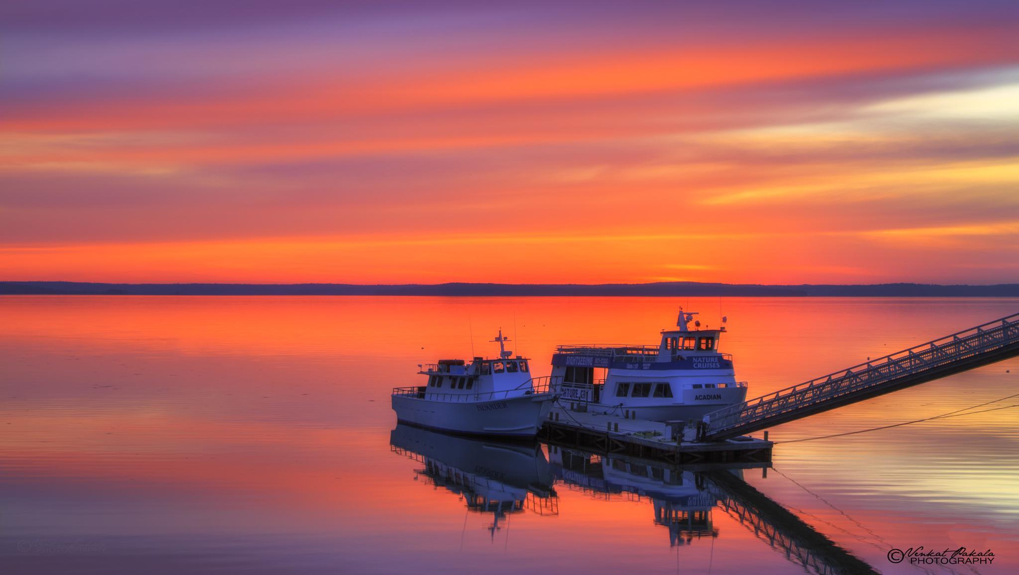 Acadia Sunrise- First light by Venkat Pakala