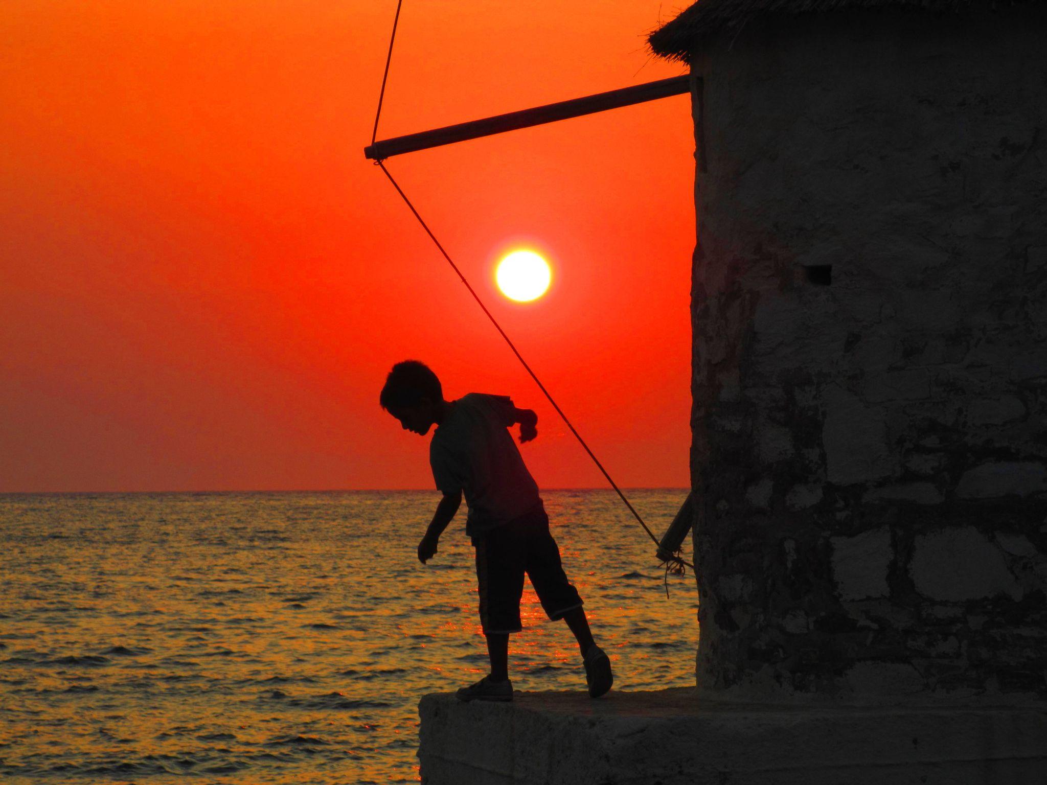 Sunset fishing, Kasos Island, Greece by kasiospaul