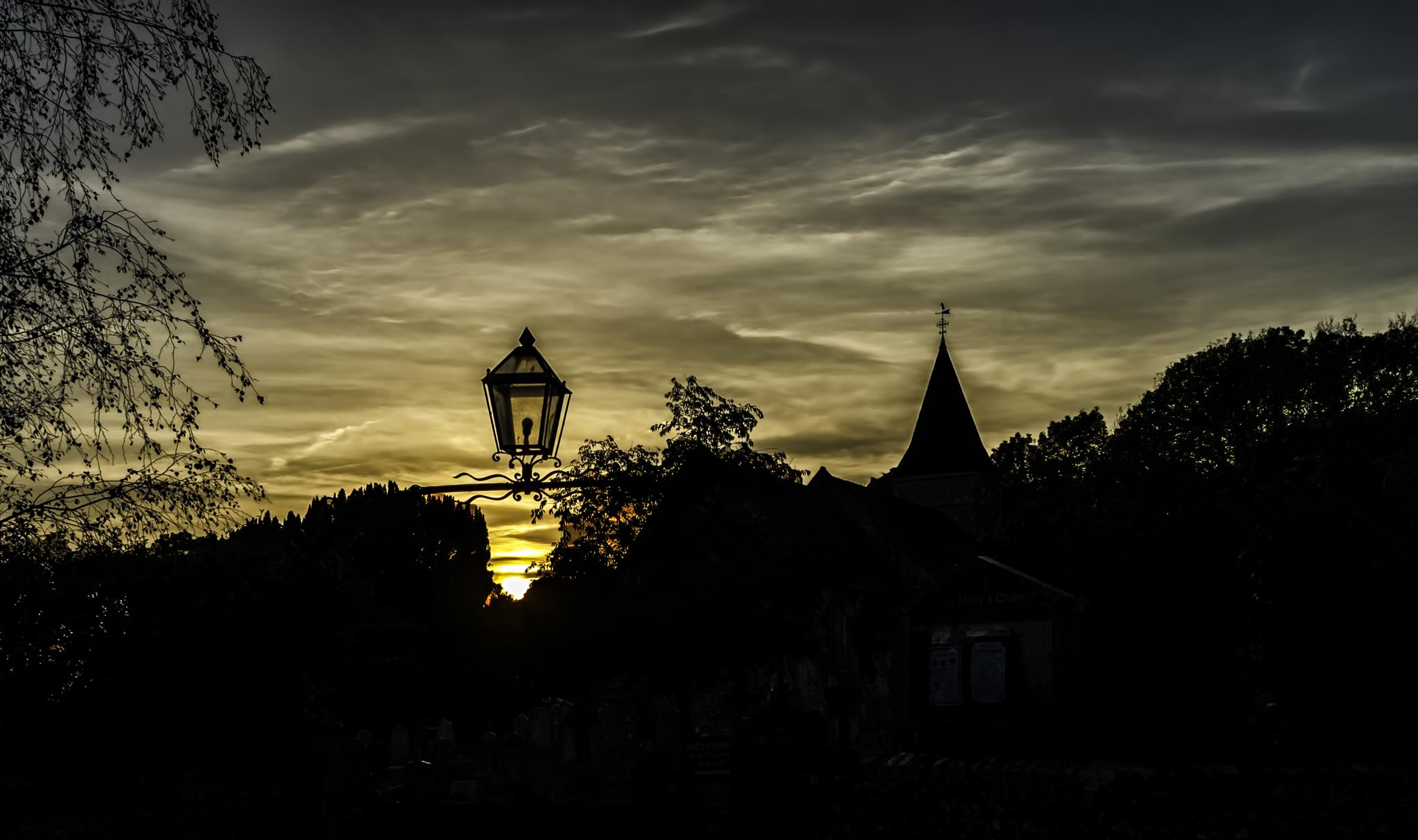 Photo in Random #silhouette #lantern #church #west sussex #england