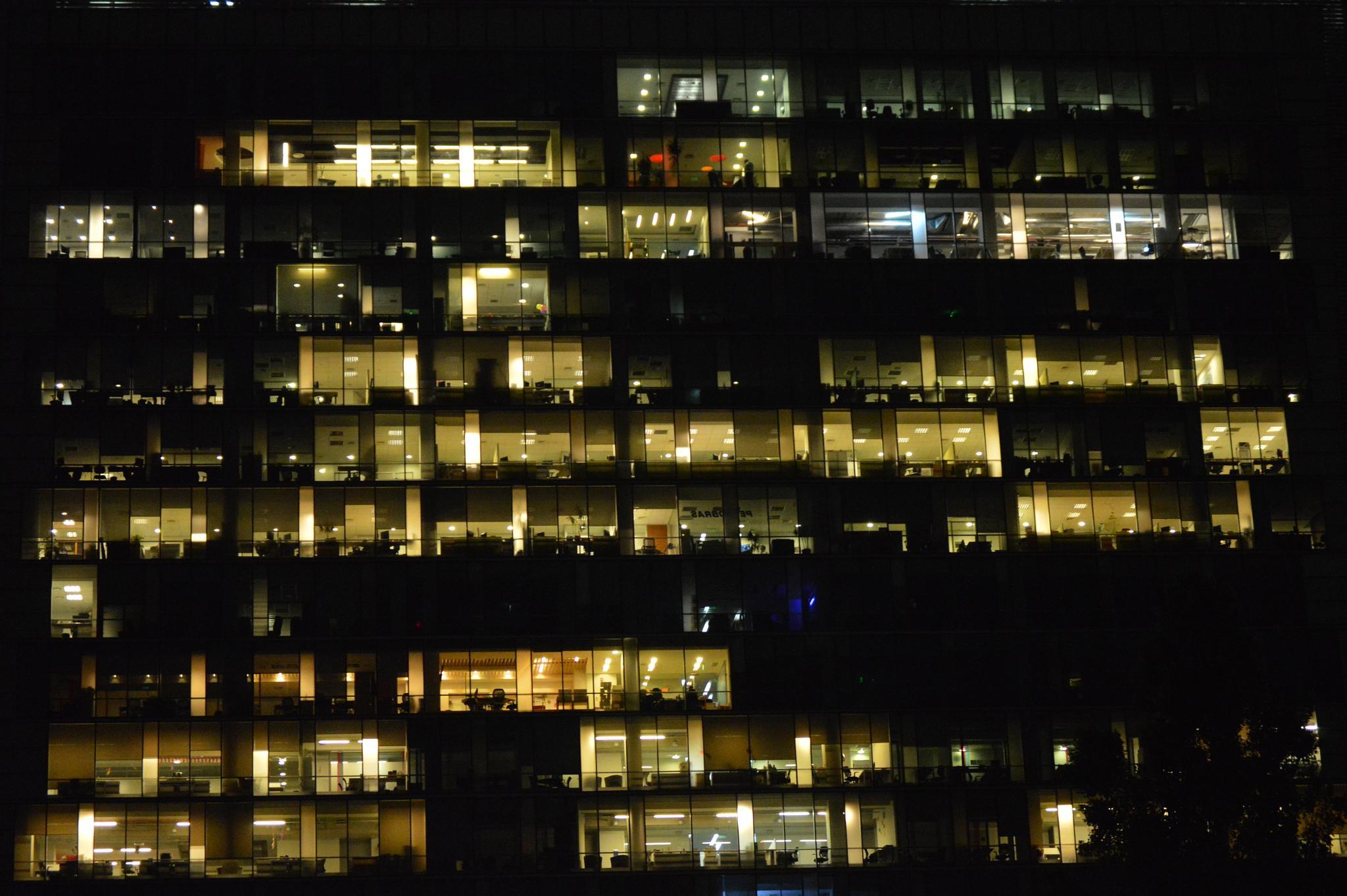 Windows and lights by Eduardo Vega H