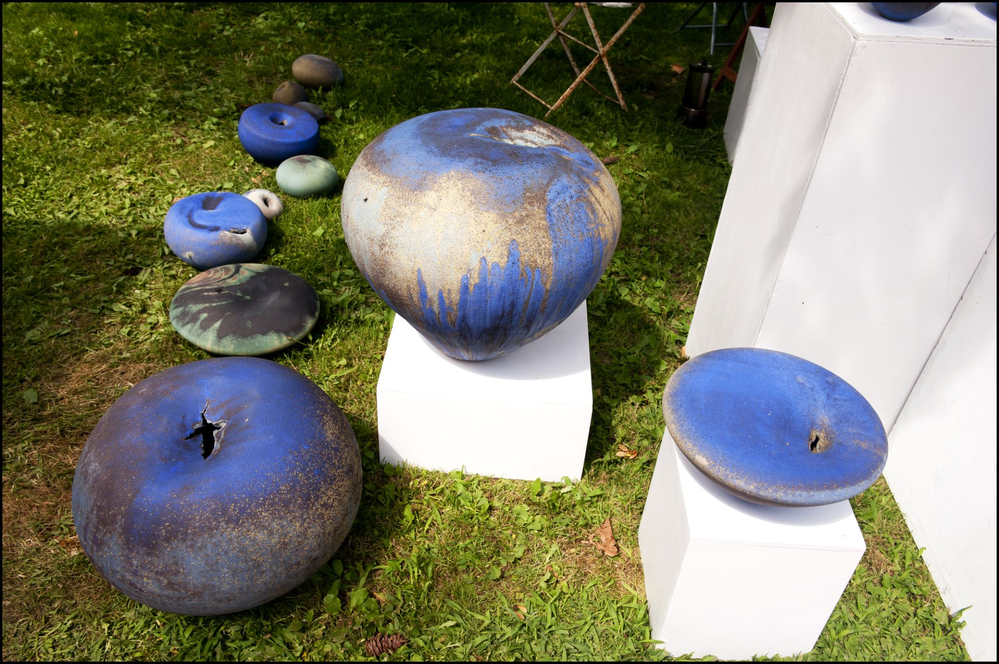 blue ceramic by Roderic Beyeler